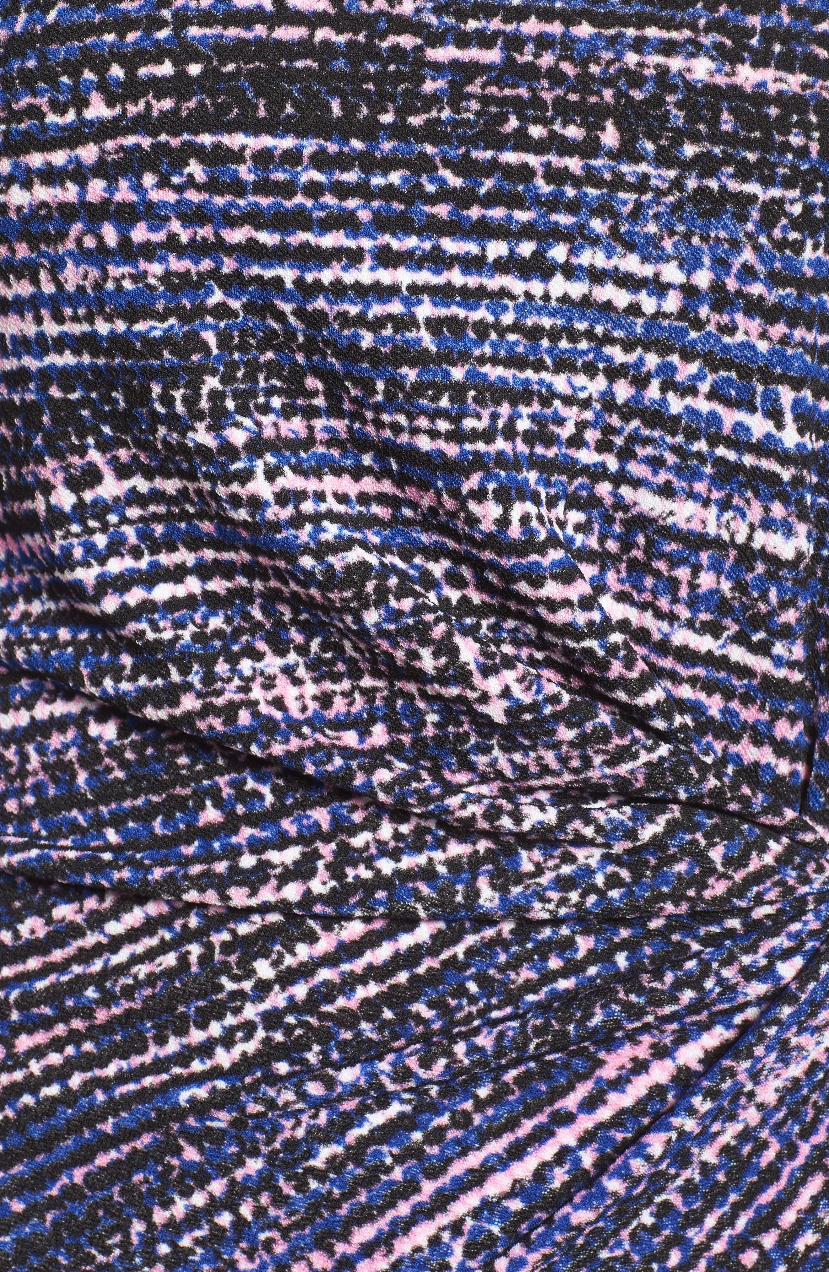 Faux Wrap Dress,                             Alternate thumbnail 5, color,                             654