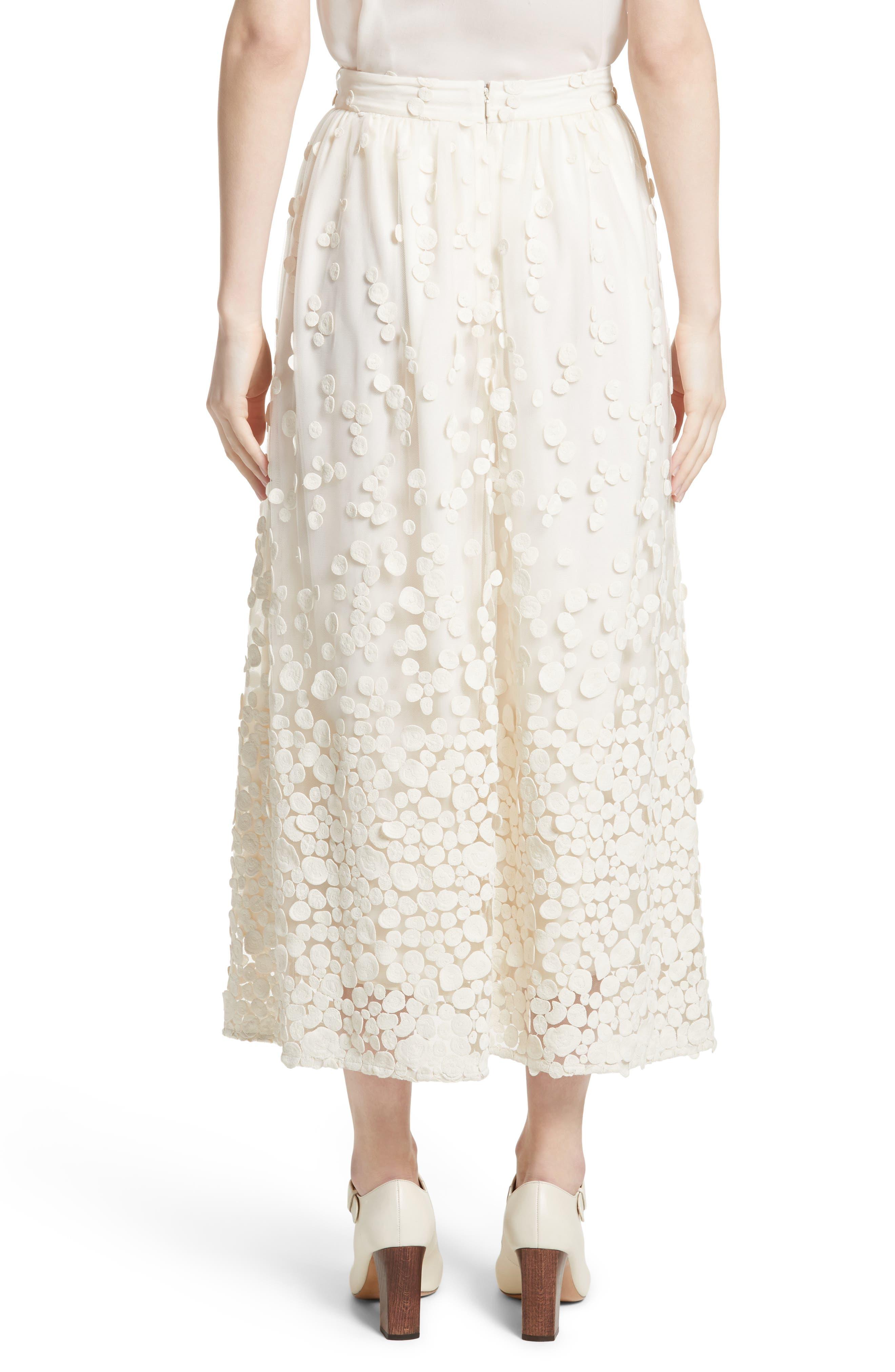 Pebbles Embroidered Mesh Midi Skirt,                             Alternate thumbnail 2, color,                             900