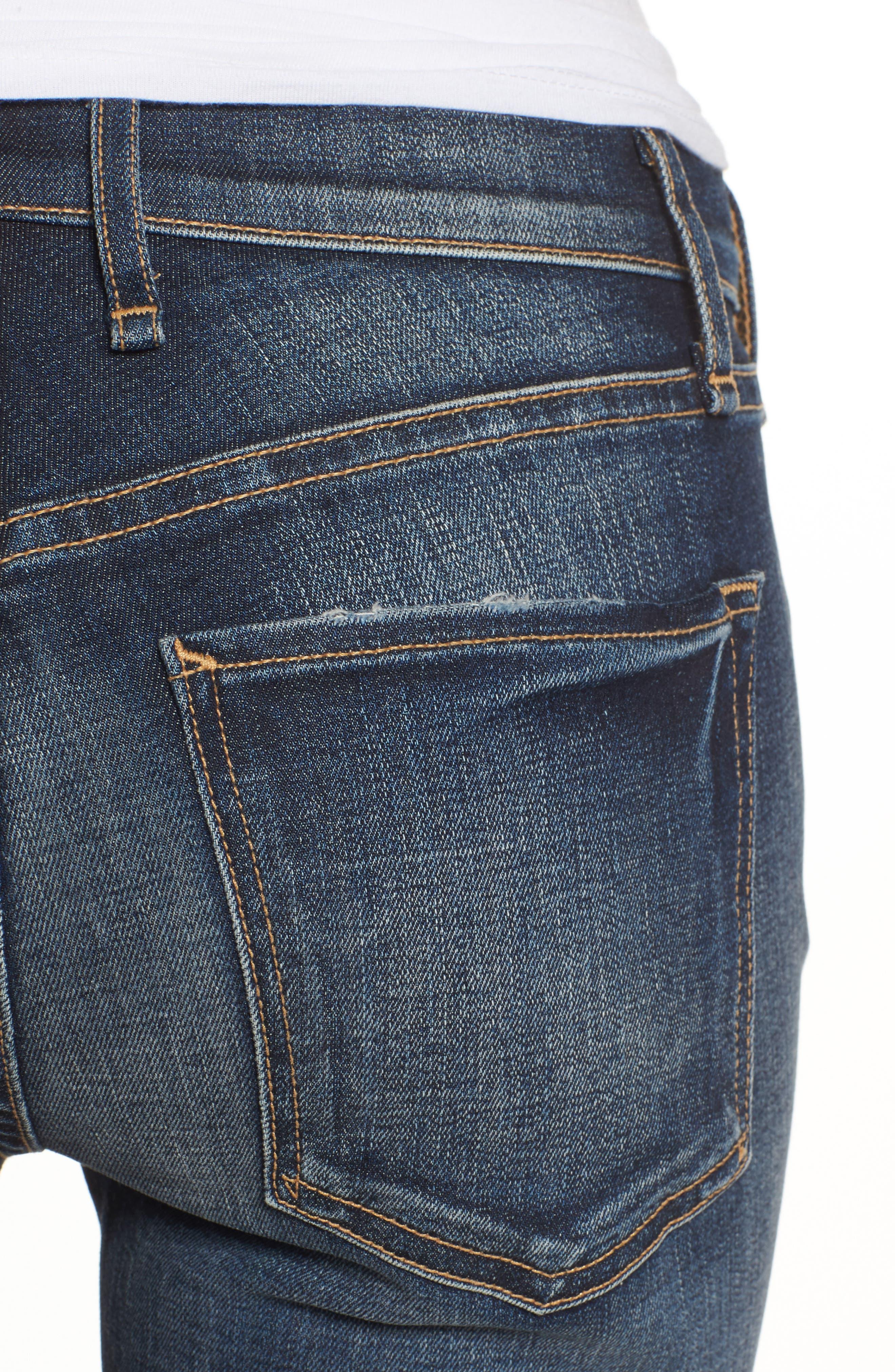 Newton High Waist Skinny Jeans,                             Alternate thumbnail 4, color,                             420