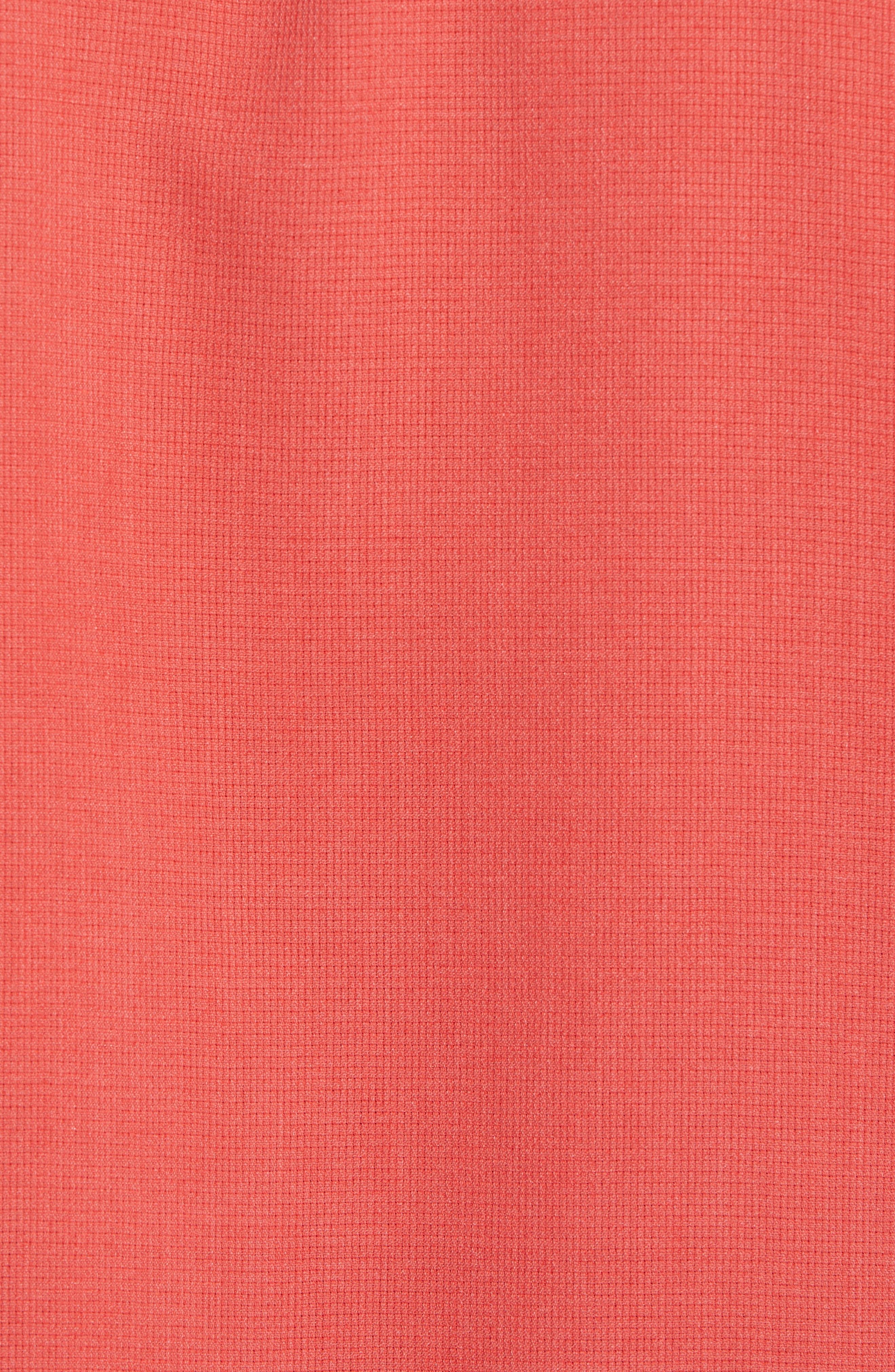 Royal Bermuda Silk Blend Camp Shirt,                             Alternate thumbnail 5, color,                             WILD GERANIUM
