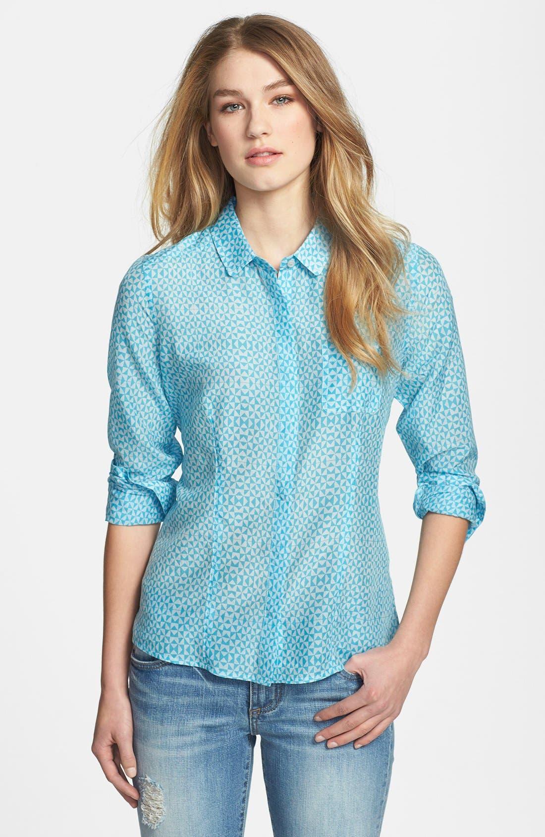 Cotton & Silk Shirt,                             Main thumbnail 28, color,