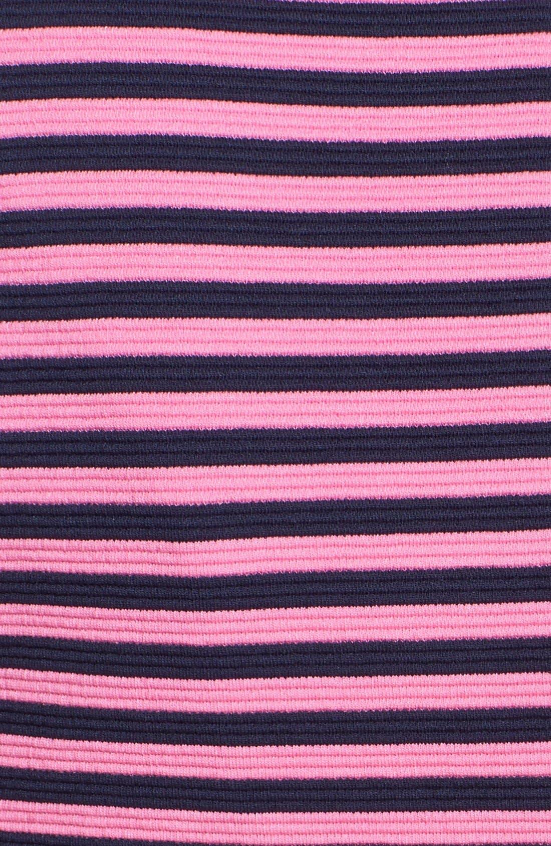 'Brielle' Stripe Fit & Flare Dress,                             Alternate thumbnail 3, color,                             650