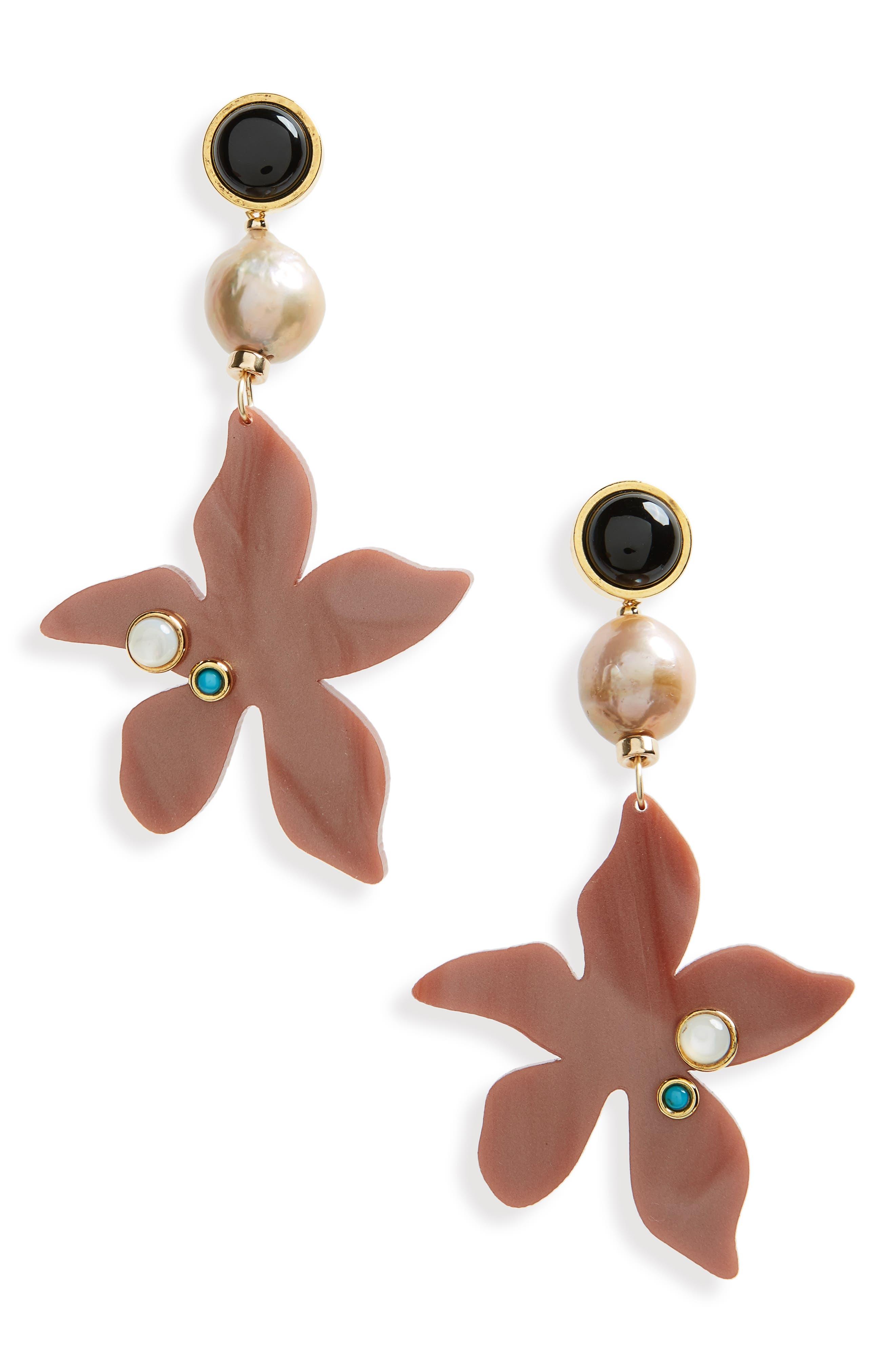 Portugal Poppy Drop Earrings,                         Main,                         color,