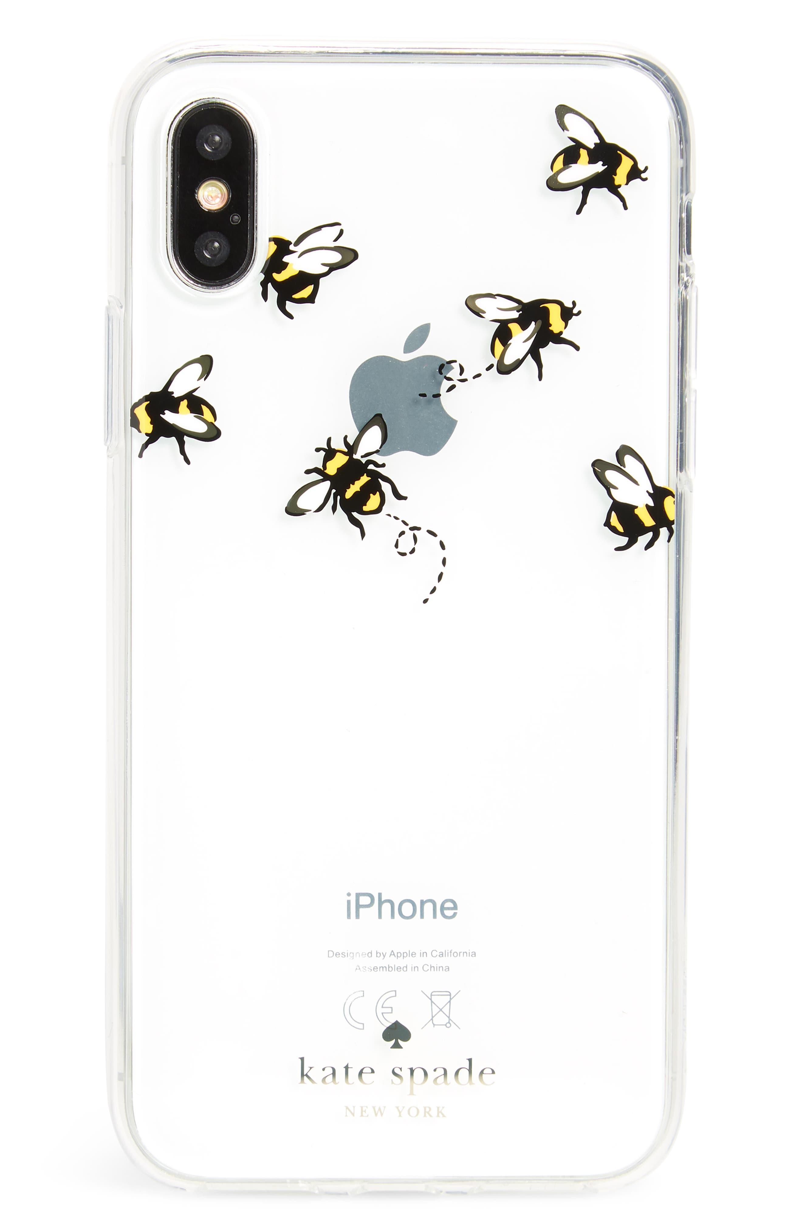stick to it iPhone X case & sticker pocket set,                             Alternate thumbnail 6, color,