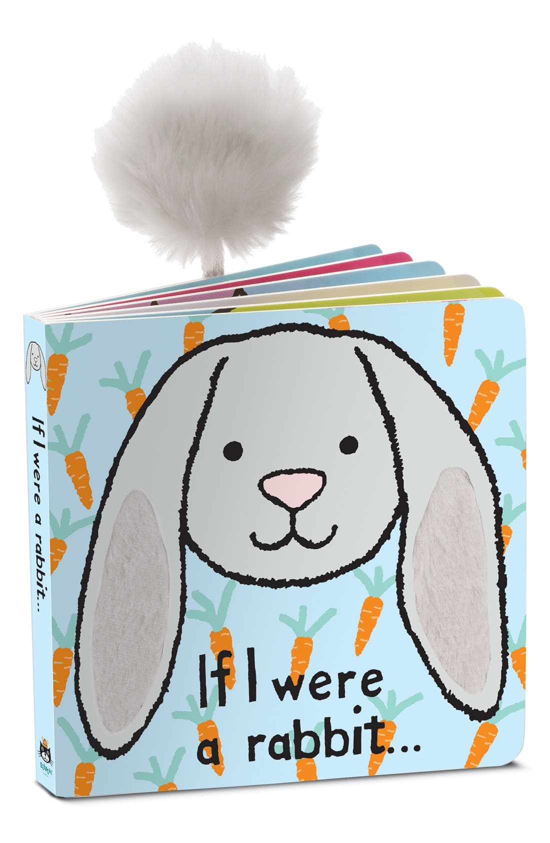 'If I Were a Rabbit' Board Book,                             Main thumbnail 1, color,                             GREY