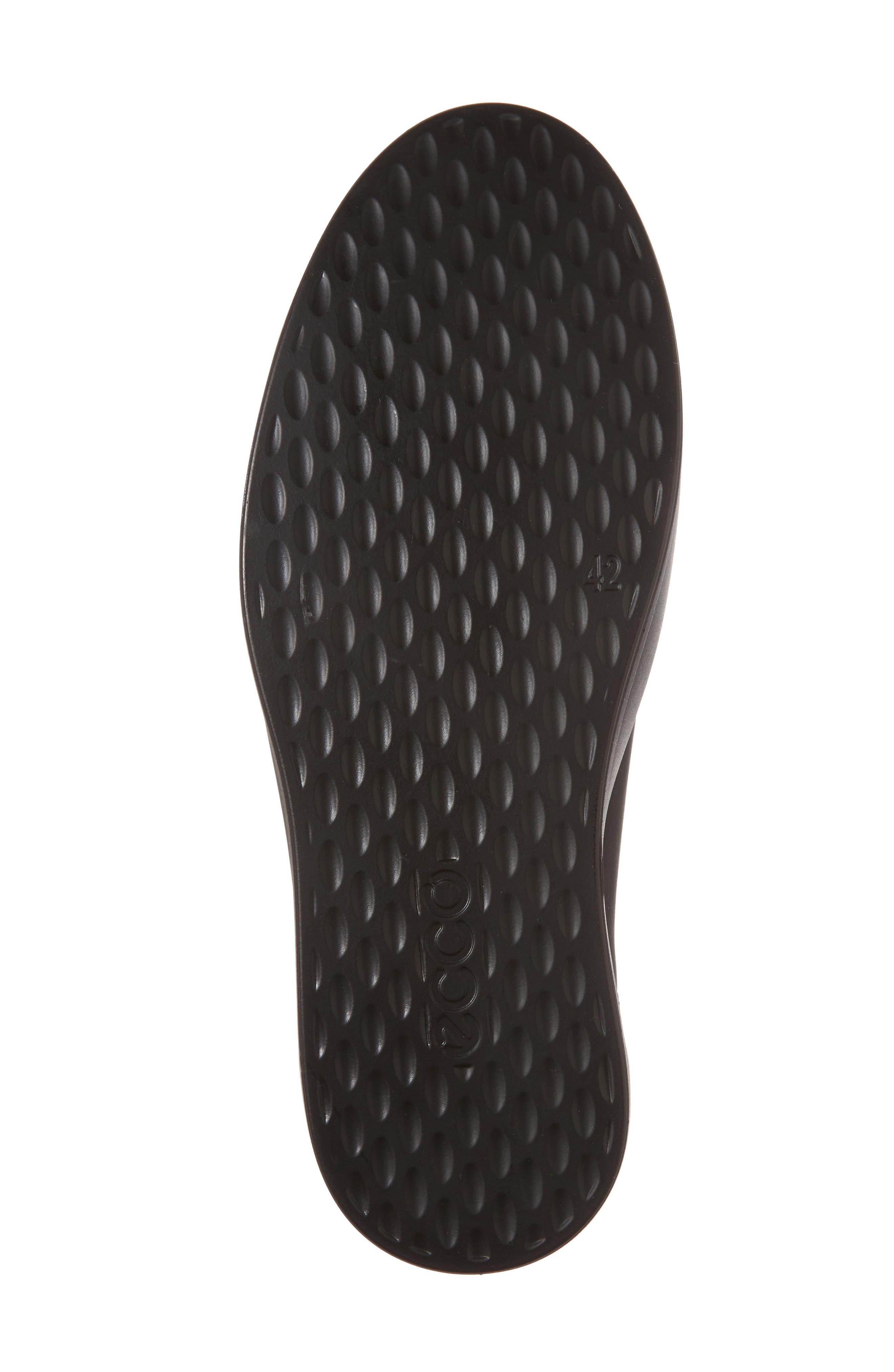 Soft 8 Sneaker,                             Alternate thumbnail 6, color,                             BLACK LEATHER