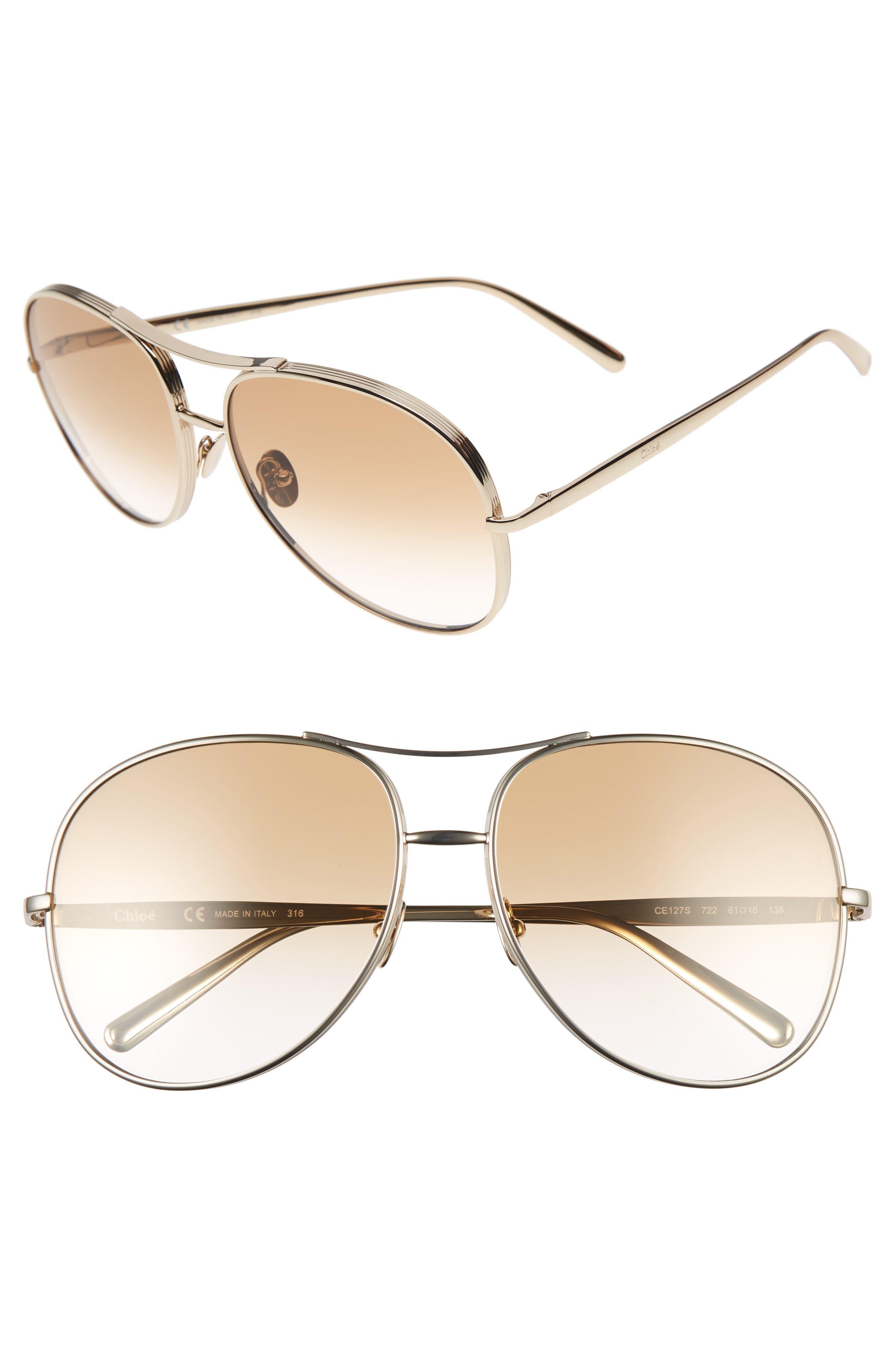 61mm Oversize Sunglasses,                             Main thumbnail 2, color,
