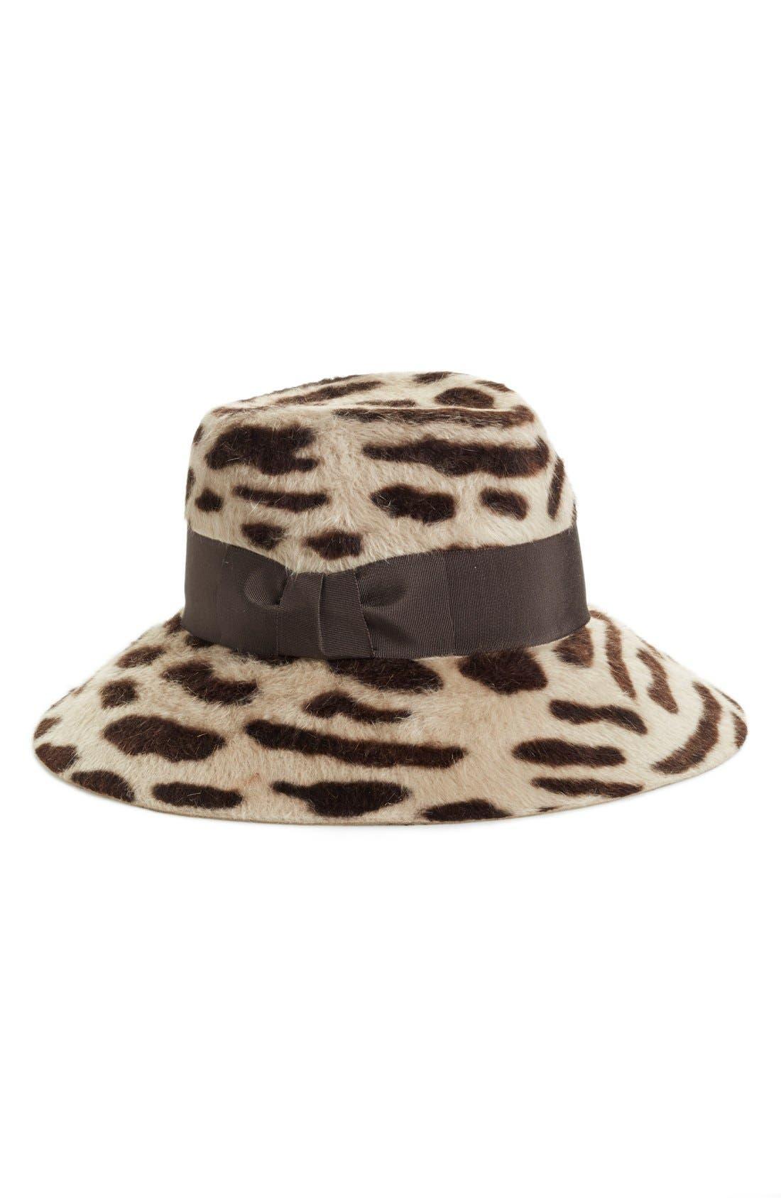 Rabbit Hair Felt Hat,                             Main thumbnail 3, color,