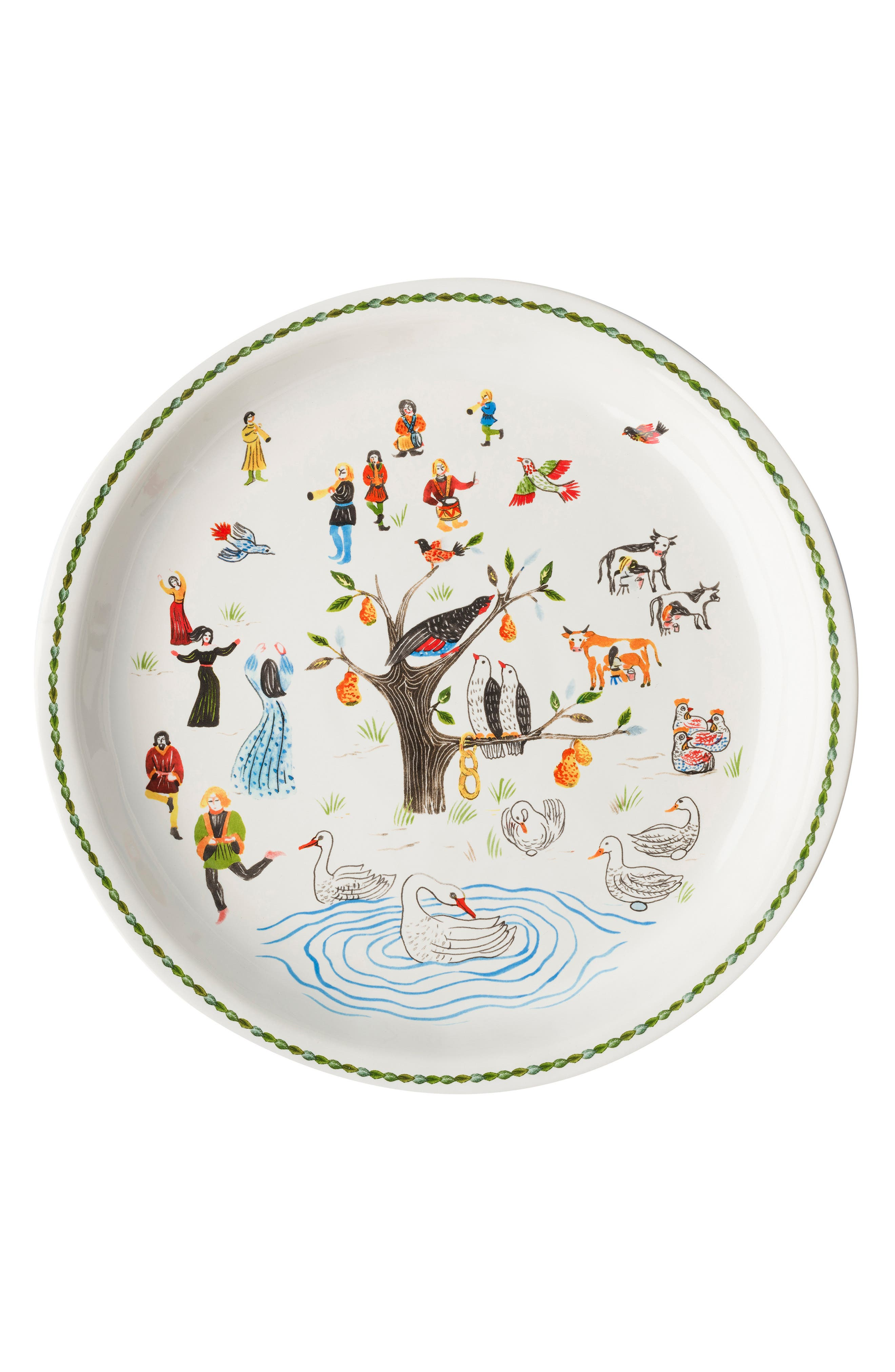 Twelve Days of Christmas Platter,                         Main,                         color, 100
