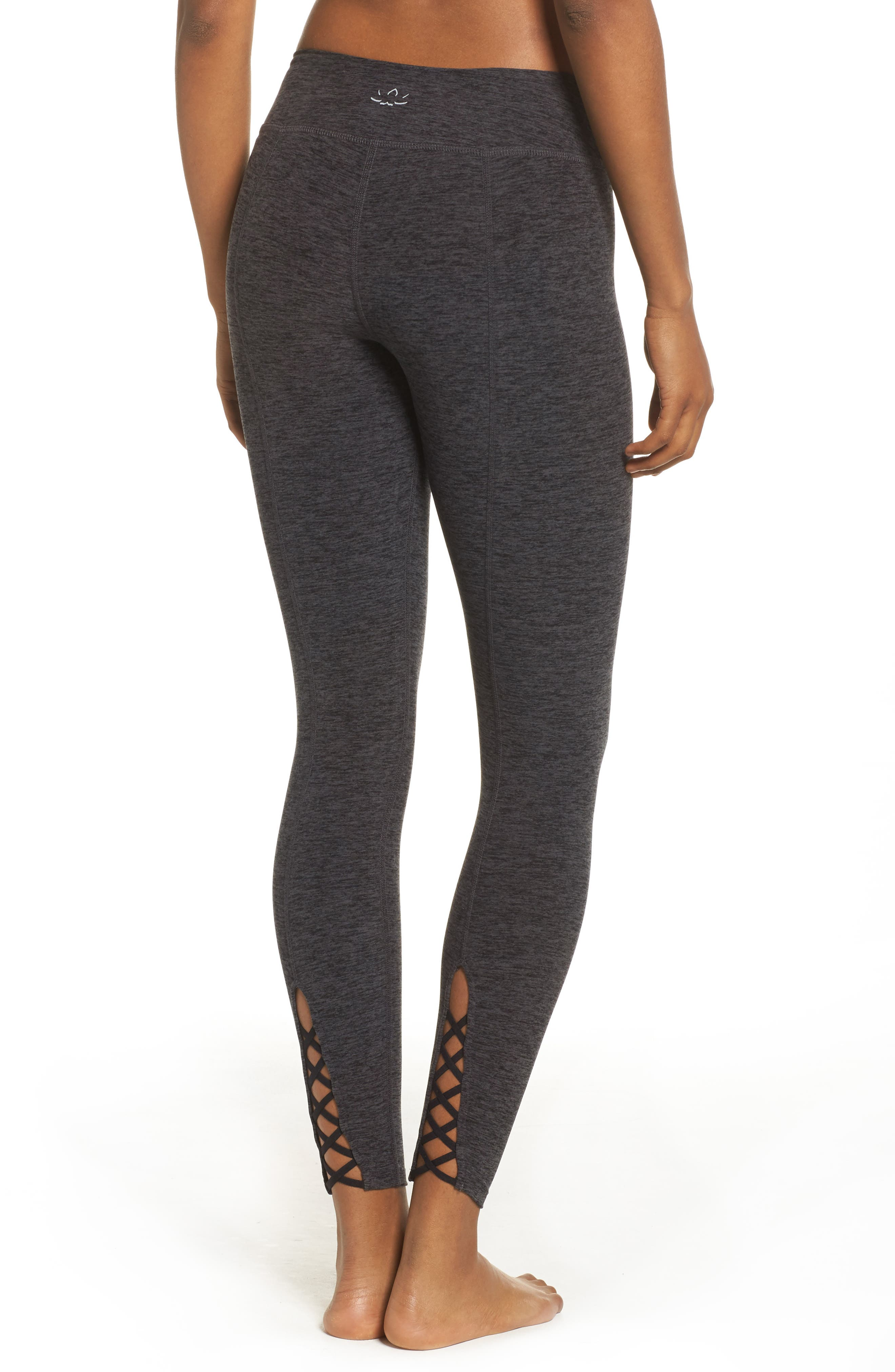 Crisscross Crop Leggings,                             Alternate thumbnail 2, color,                             001
