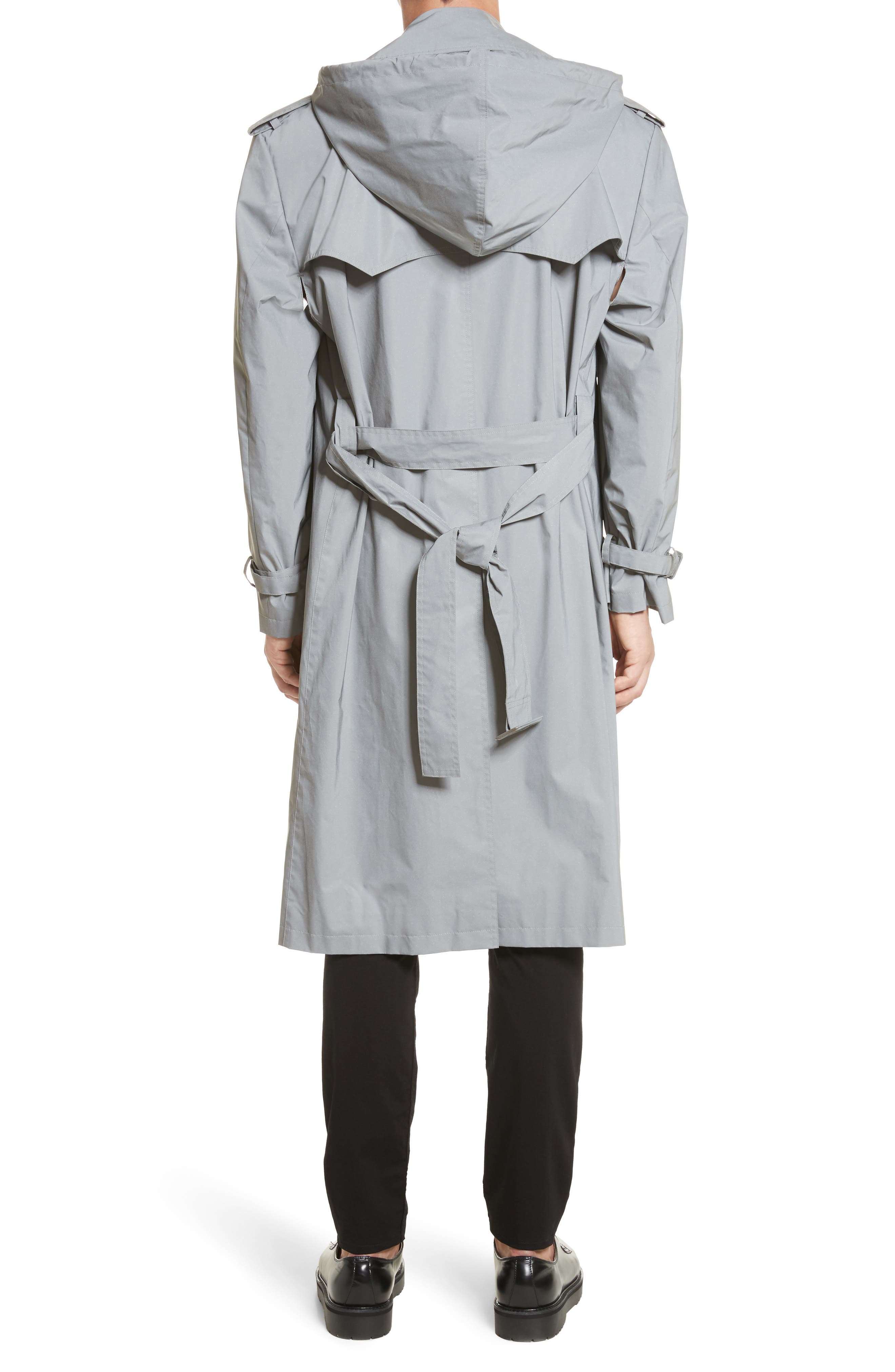 Reflective Hooded Trench Coat,                             Alternate thumbnail 3, color,