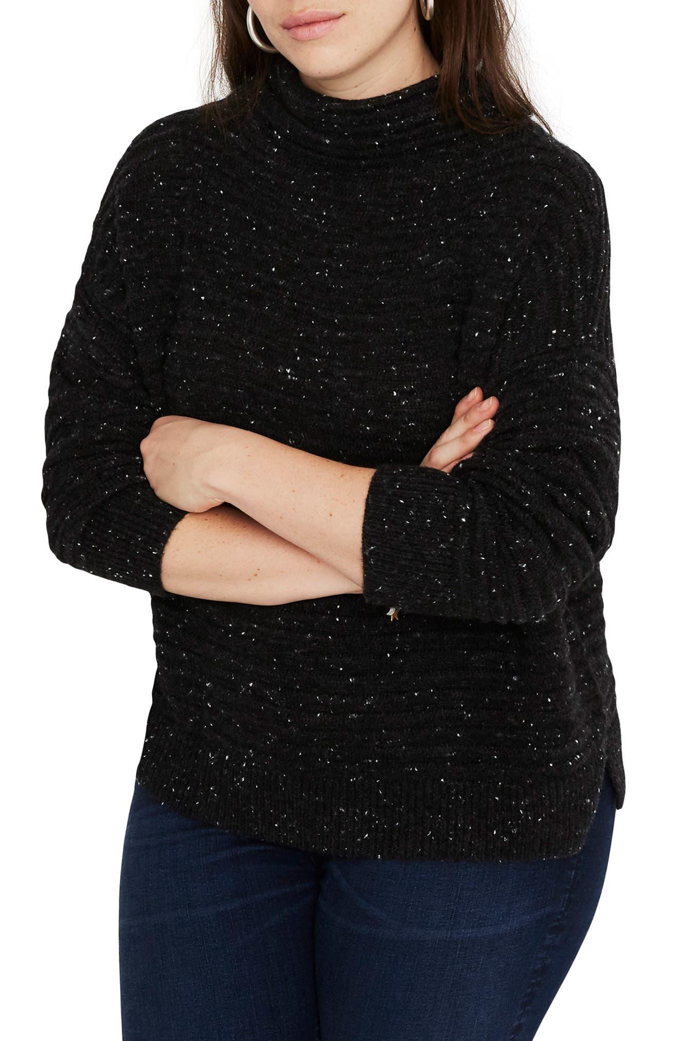 Belmont Donegal Mock Neck Sweater,                             Alternate thumbnail 2, color,                             DONEGAL STORM