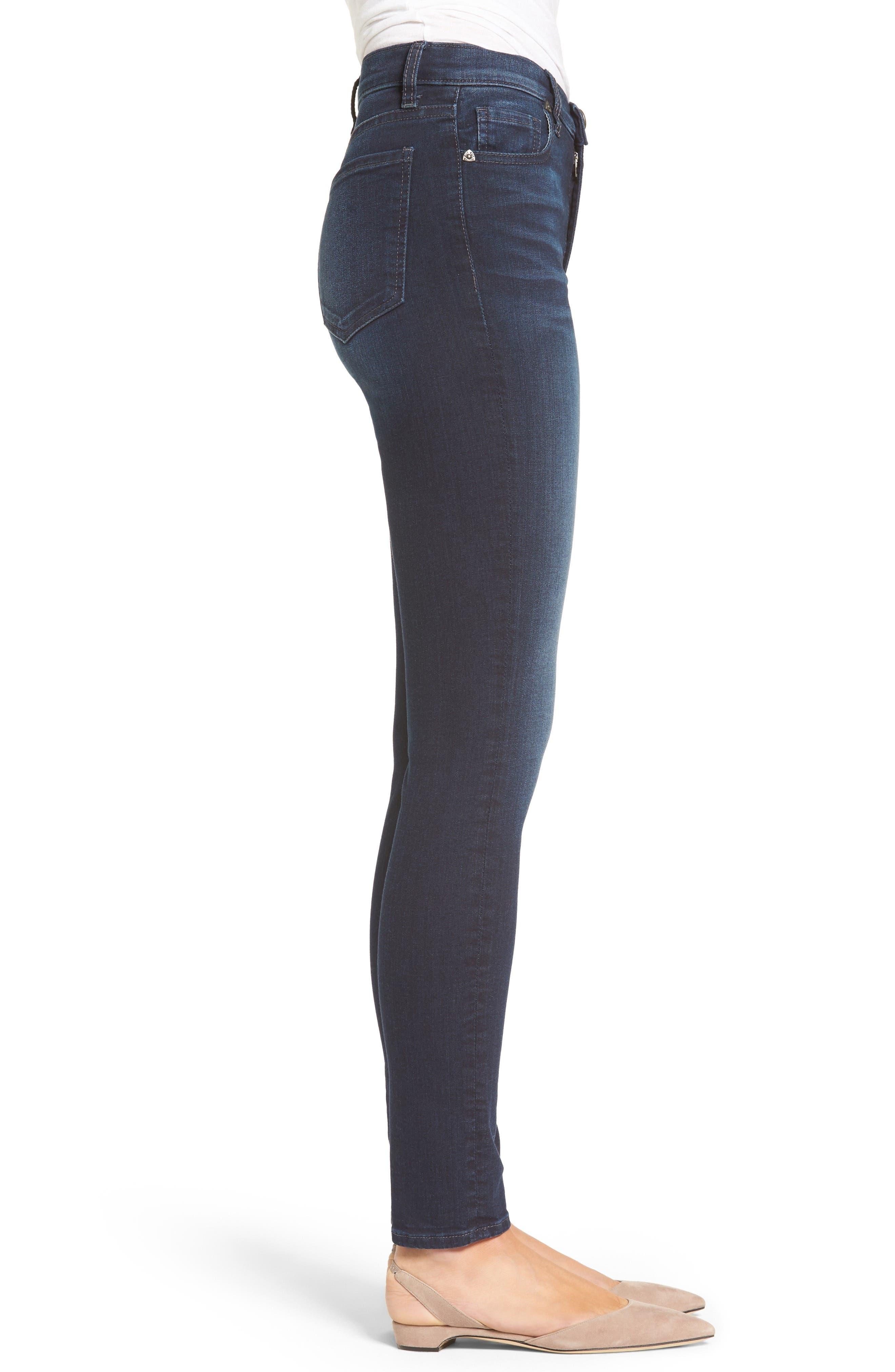 Mia High Waist Skinny Jeans,                             Alternate thumbnail 3, color,