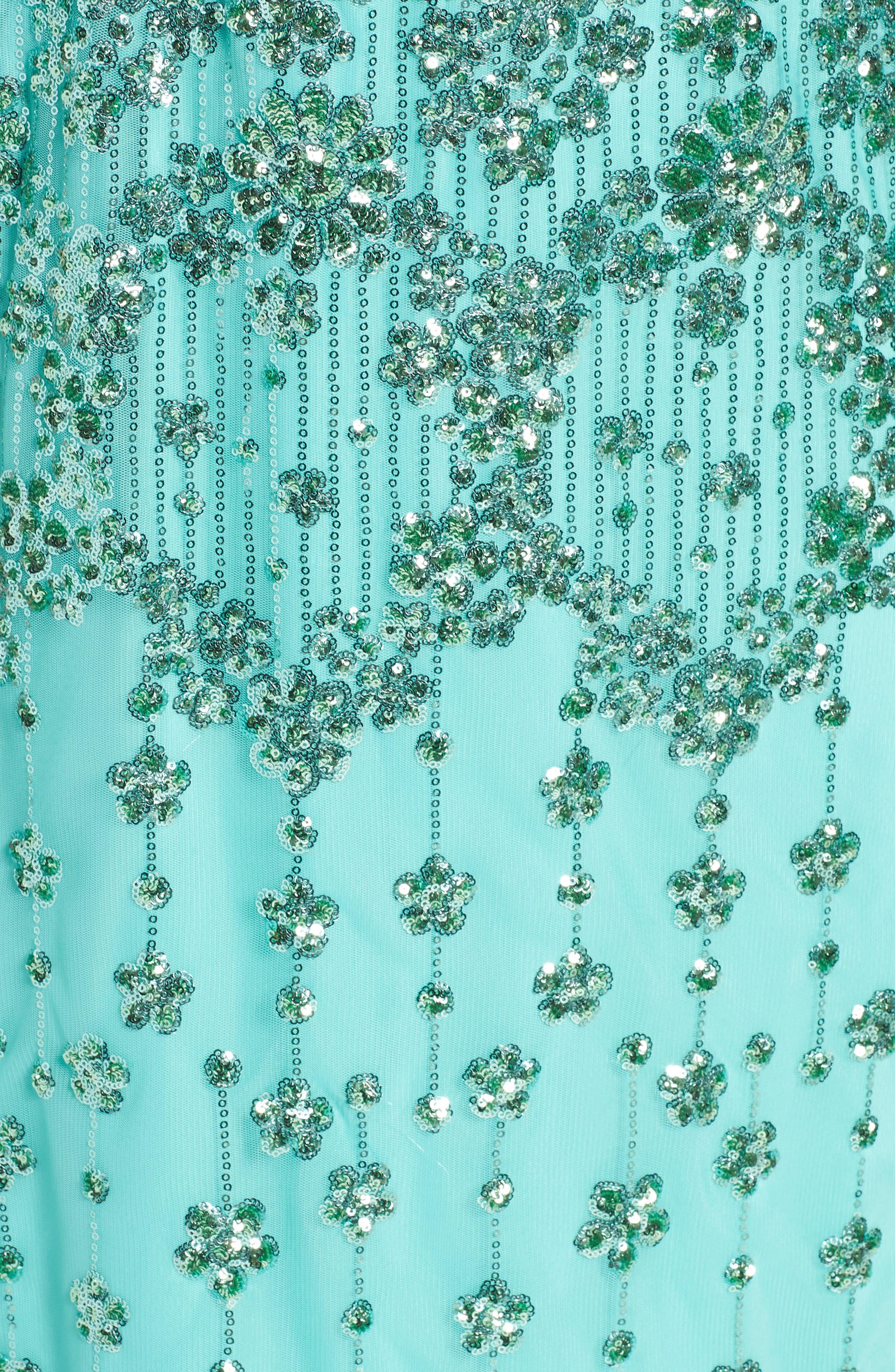 Embellished Blouson Gown,                             Alternate thumbnail 5, color,                             370