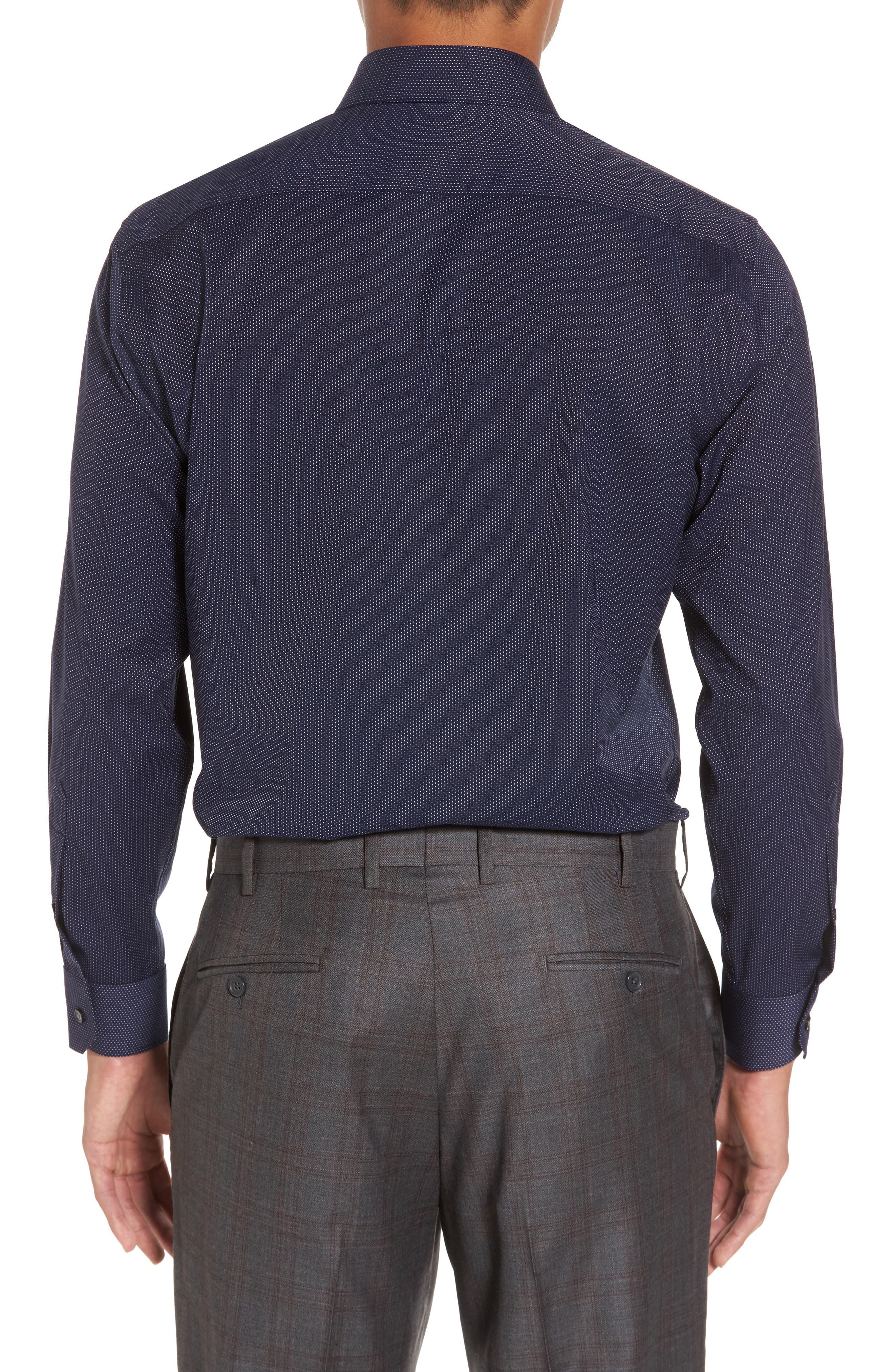 Trim Fit Non-Iron Microdot Dress Shirt,                             Alternate thumbnail 2, color,                             401