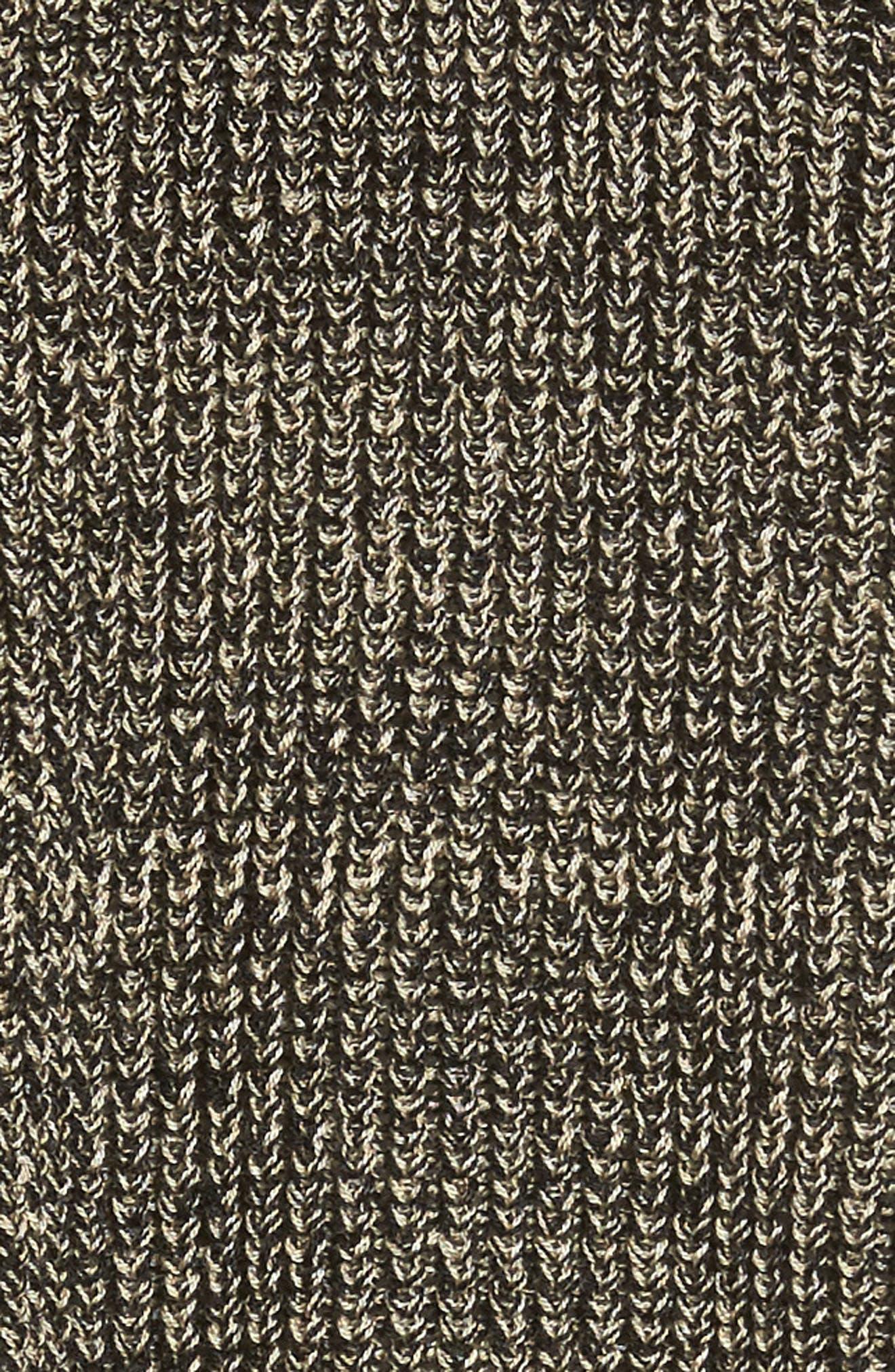 Mélange Knit Tencel<sup>®</sup> Crop Sweater,                             Alternate thumbnail 5, color,                             001