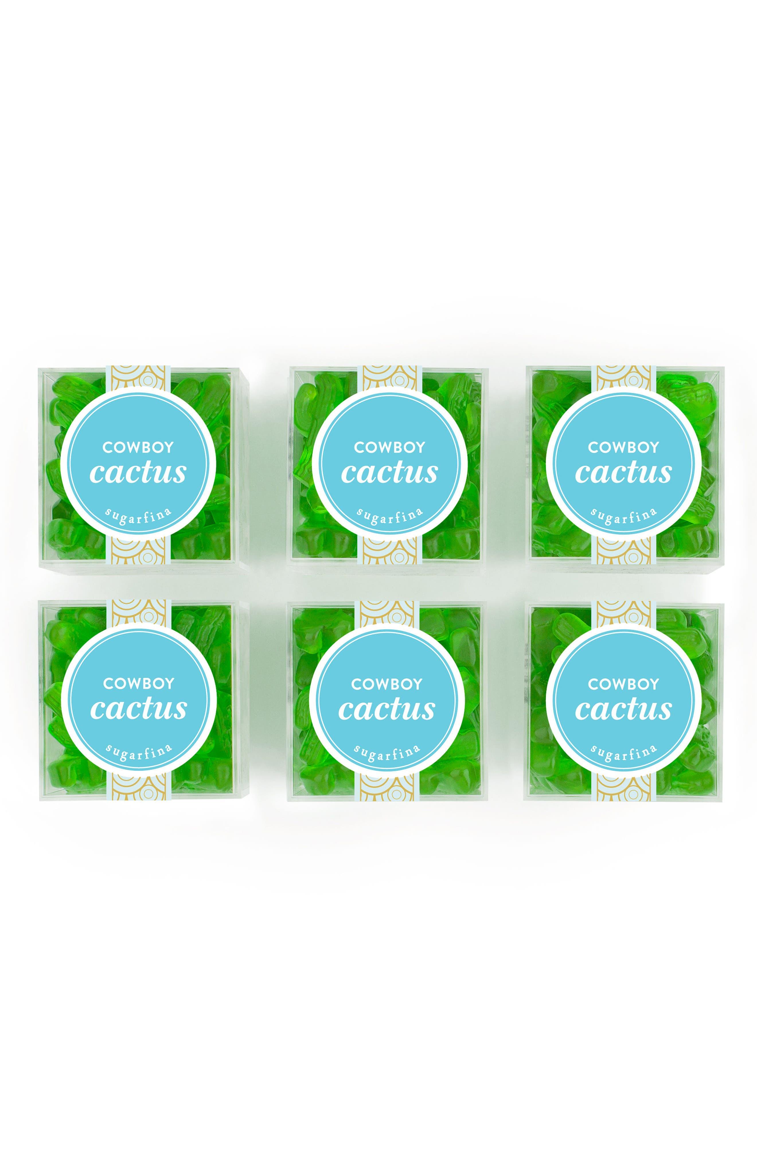 Cowboy Cactus Set of 6 Candy Cubes,                         Main,                         color, GREEN