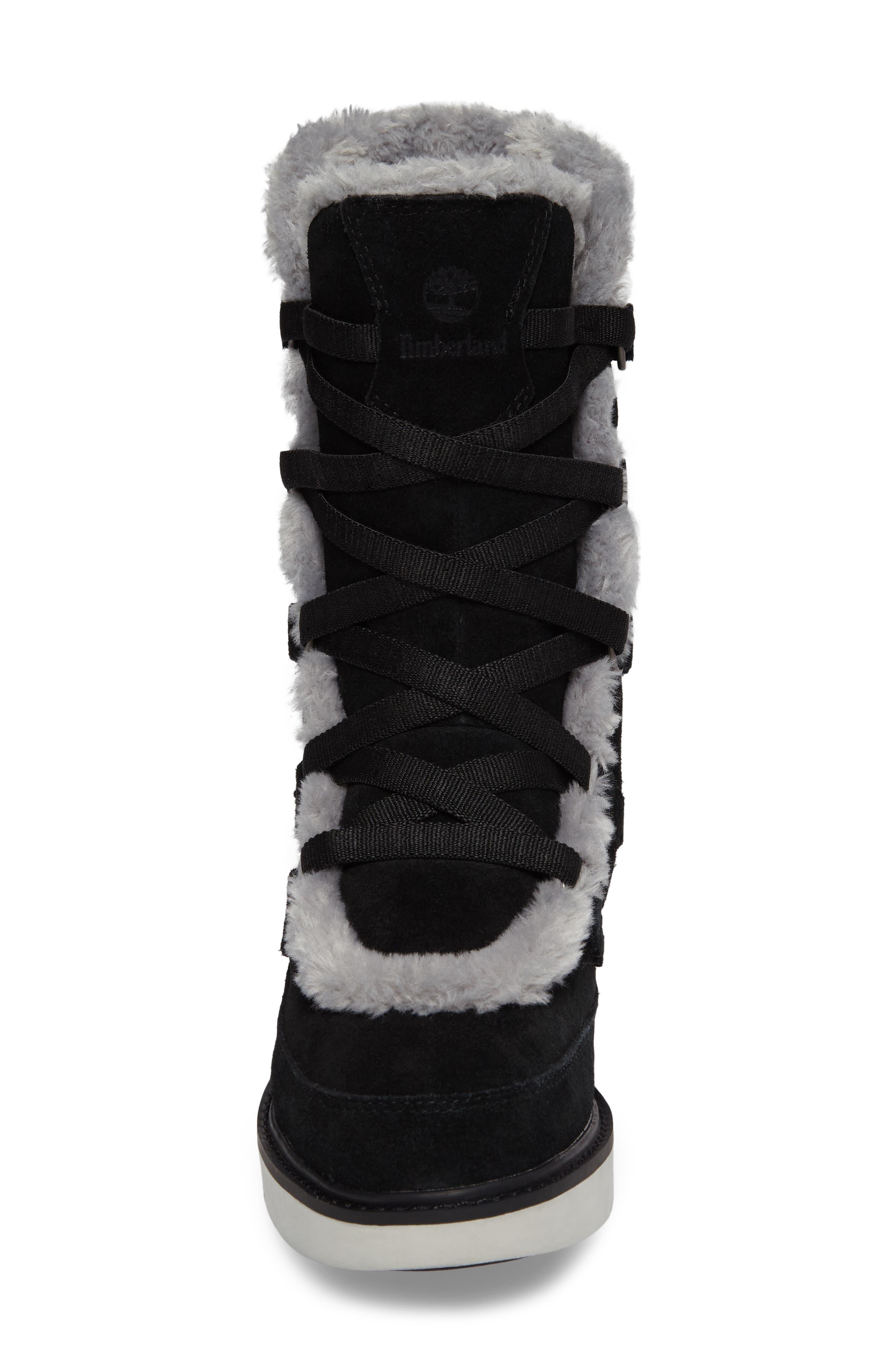 Kenniston Faux Fur Water Resistant Mukluk Boot,                             Alternate thumbnail 4, color,                             001