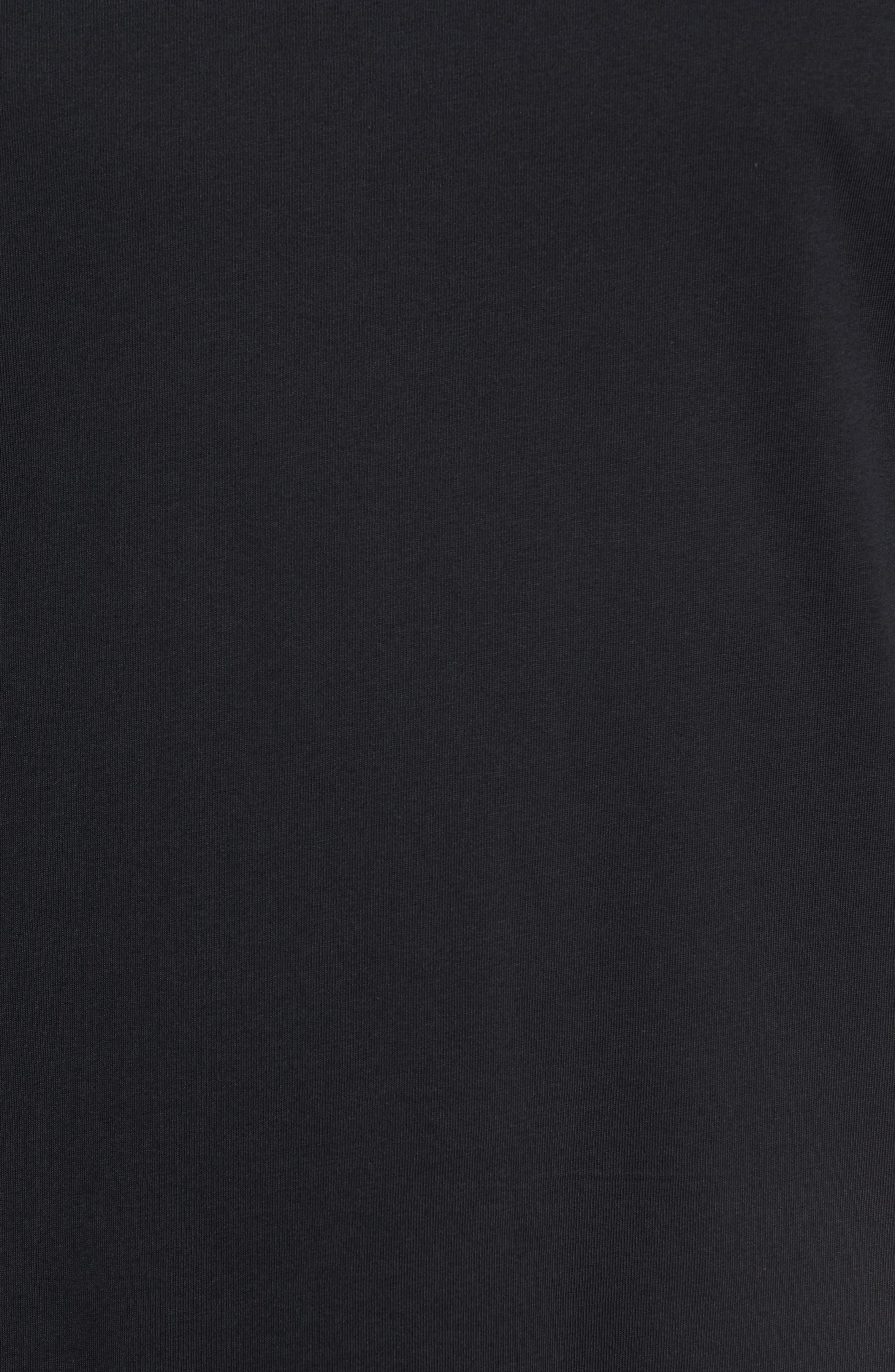 Dry Baseball T-Shirt,                             Alternate thumbnail 5, color,                             BLACK/ BLACK/ WHITE