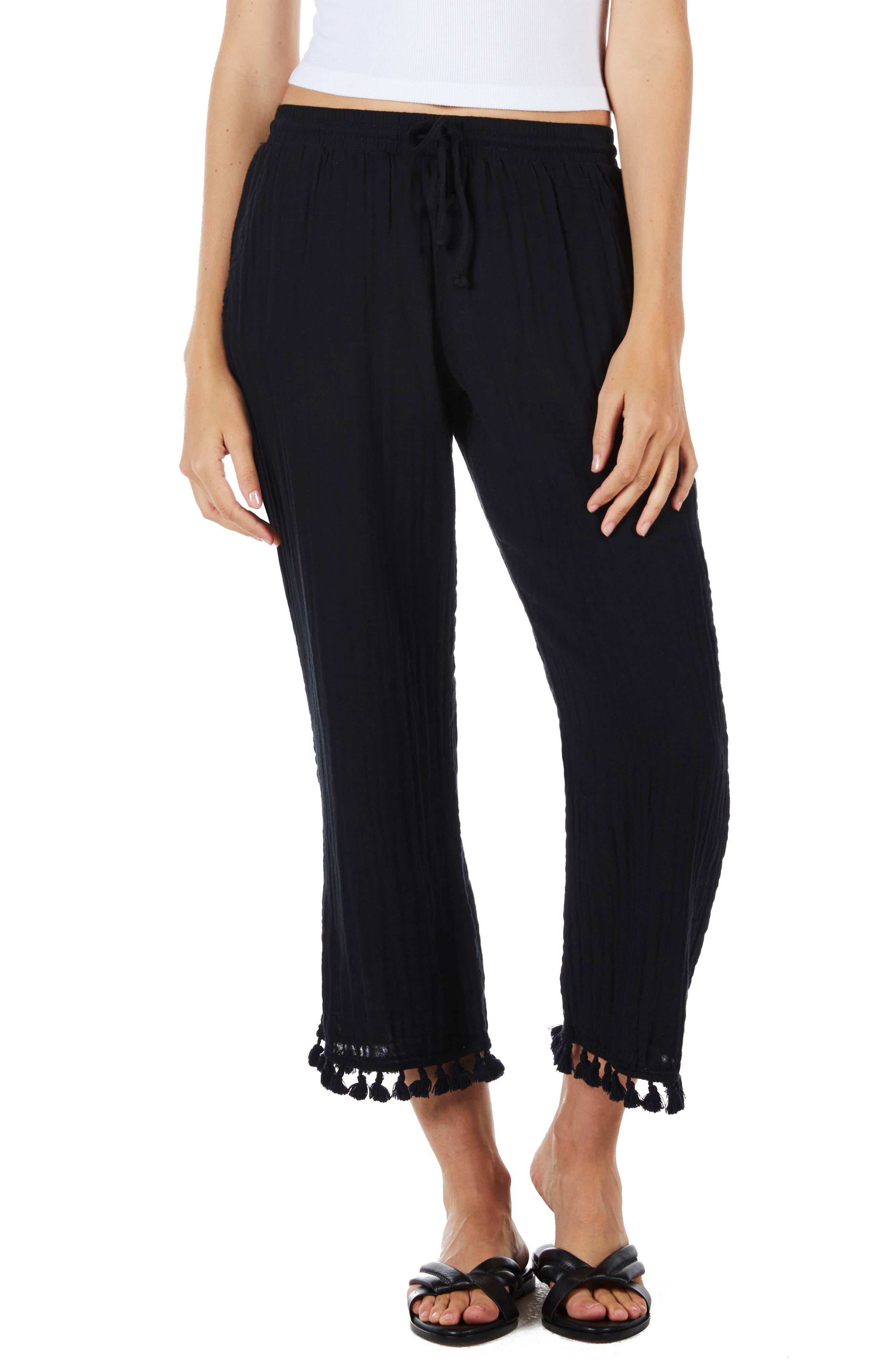 Tassel Hem Pants,                         Main,                         color,