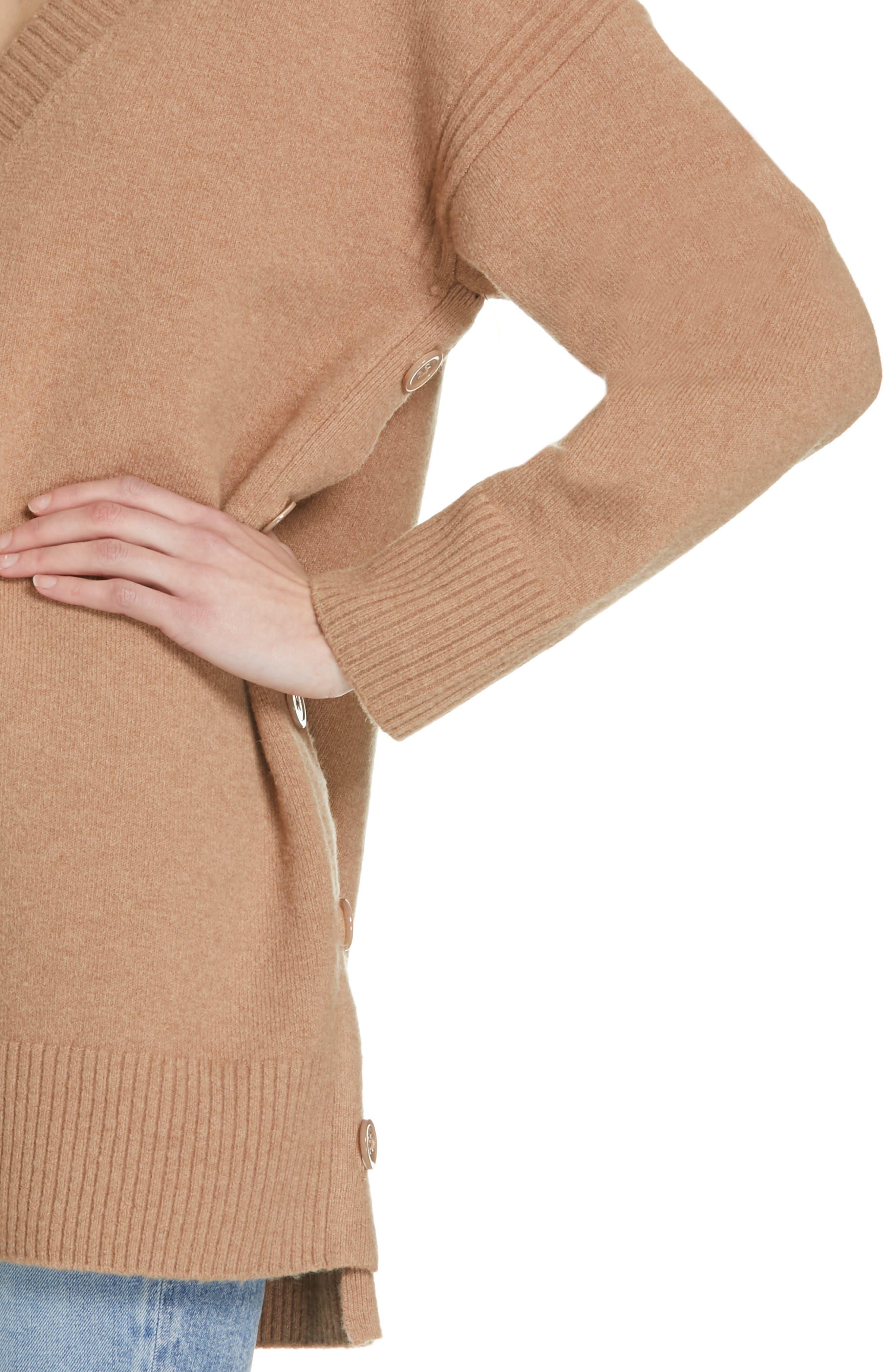 Cortis Merino Wool & Alpaca Blend Sweater,                             Alternate thumbnail 4, color,                             CAMEL