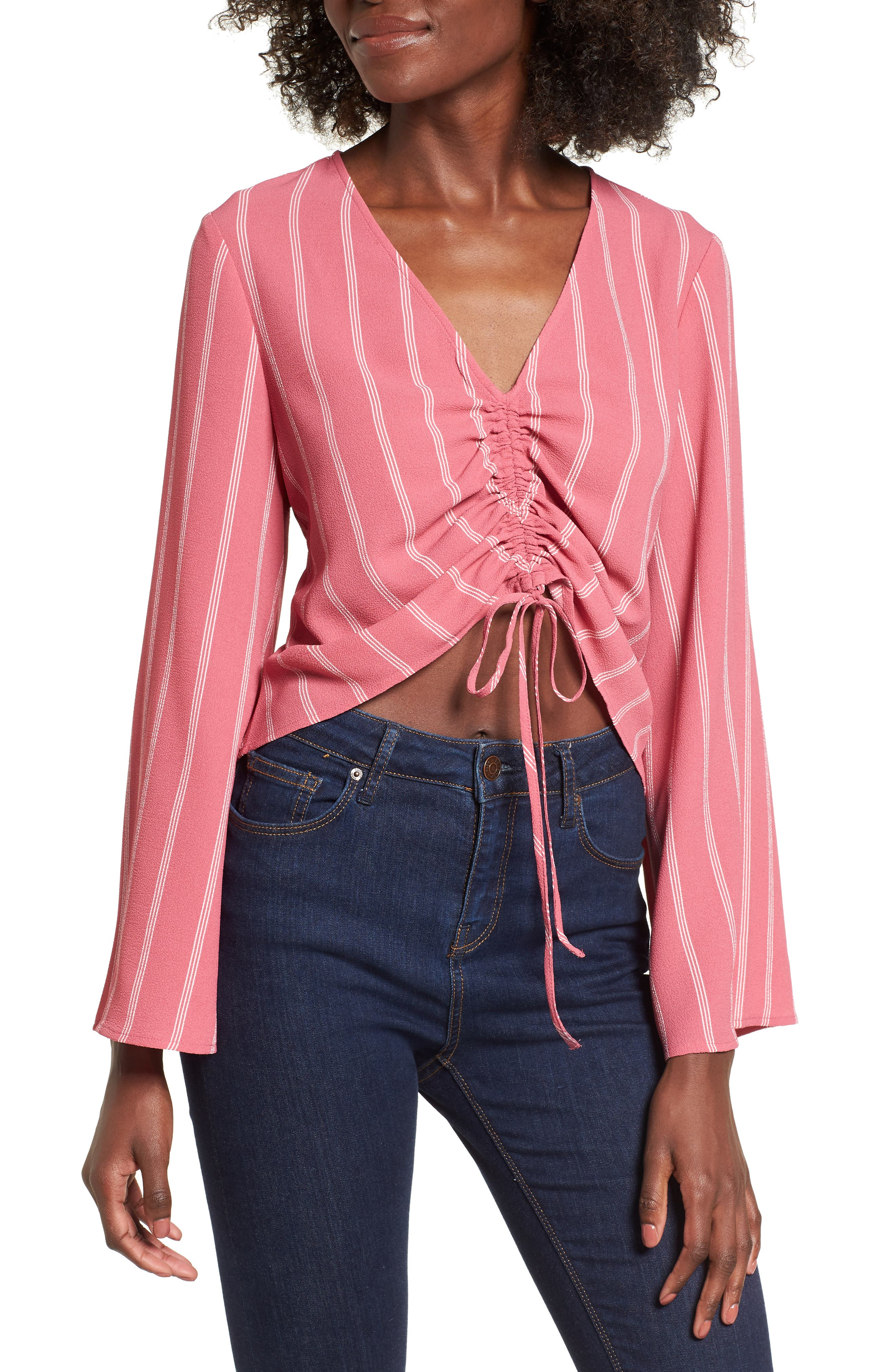 Ruched Front Top,                             Main thumbnail 2, color,