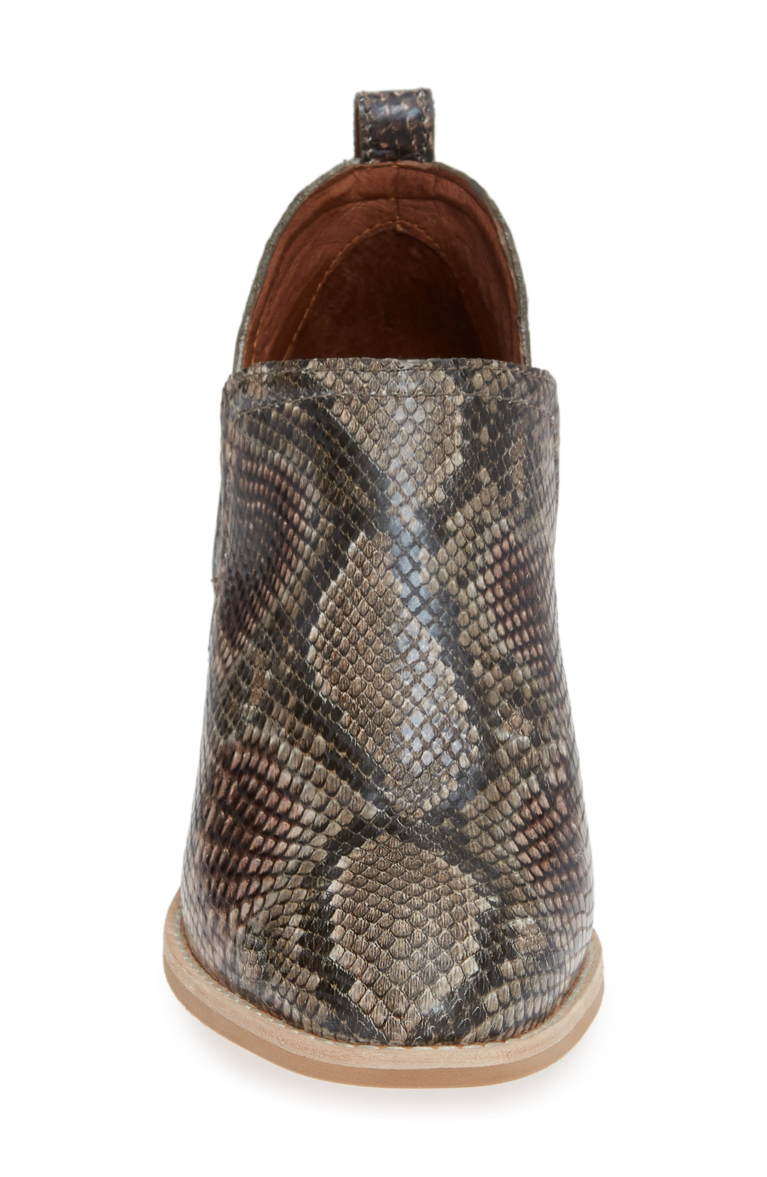 Rosalee Bootie,                             Alternate thumbnail 4, color,                             TAUPE SNAKE PRINT MULTI