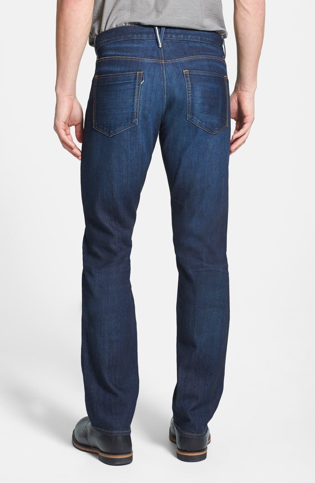 'M4' Straight Leg Selvedge Jeans,                             Alternate thumbnail 3, color,                             413