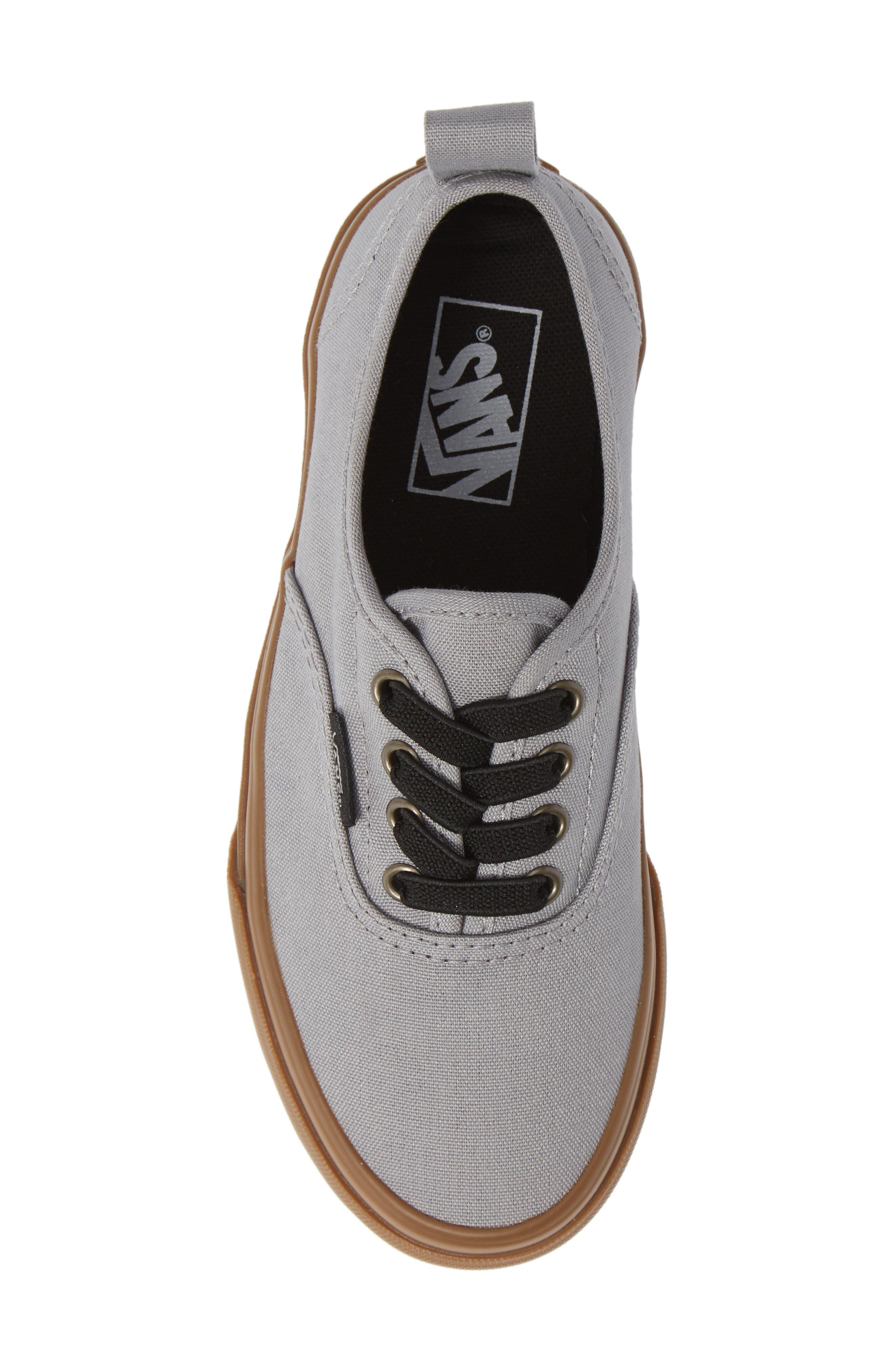 Authentic Sneaker,                             Alternate thumbnail 5, color,                             GUM OUTSOLE ALLOY/ BLACK