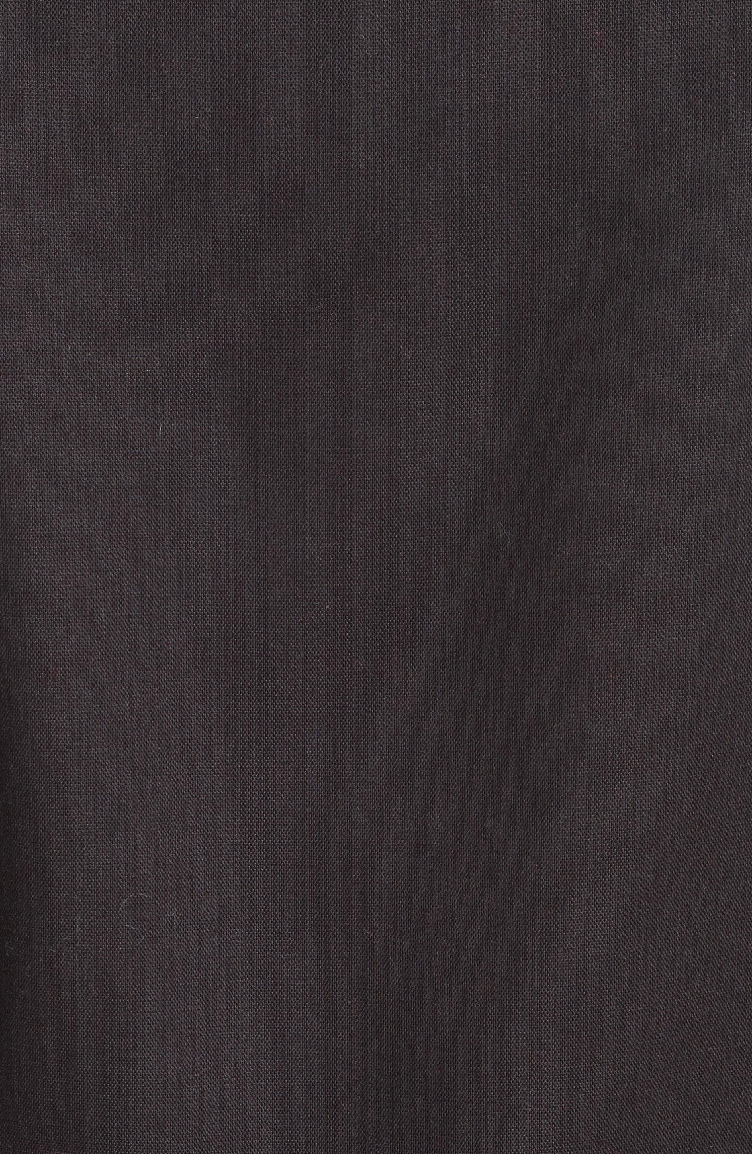 velvet trim military jacket,                             Alternate thumbnail 6, color,                             001