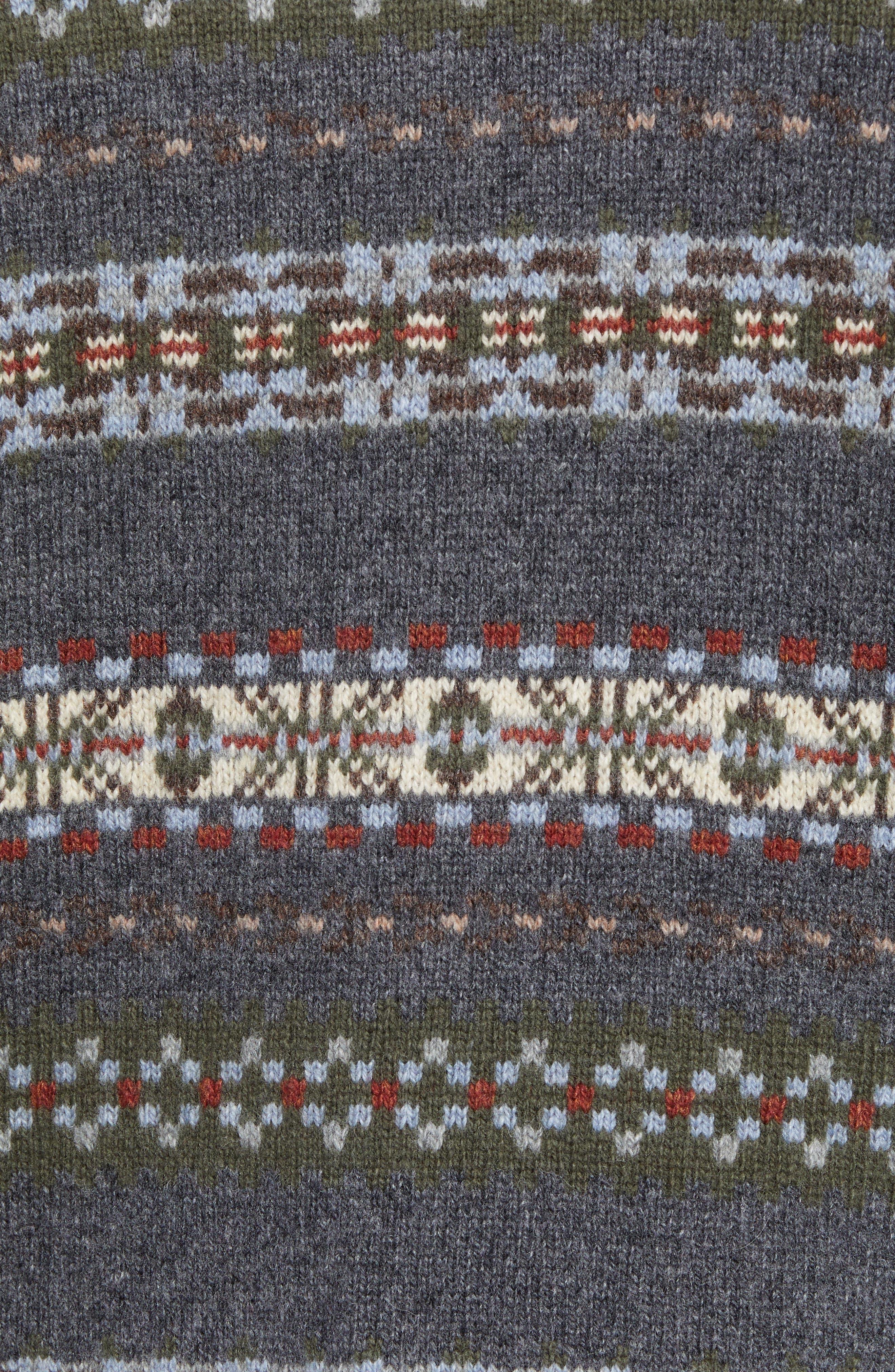 Mountainside Fair Isle Crewneck Sweater,                             Alternate thumbnail 5, color,                             017