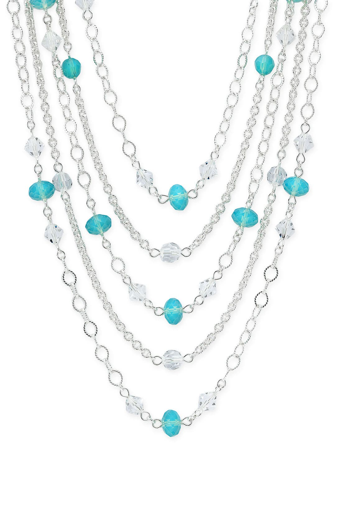 NORDSTROM Crystal Collection Layered Crystal Necklace, Main, color, 040