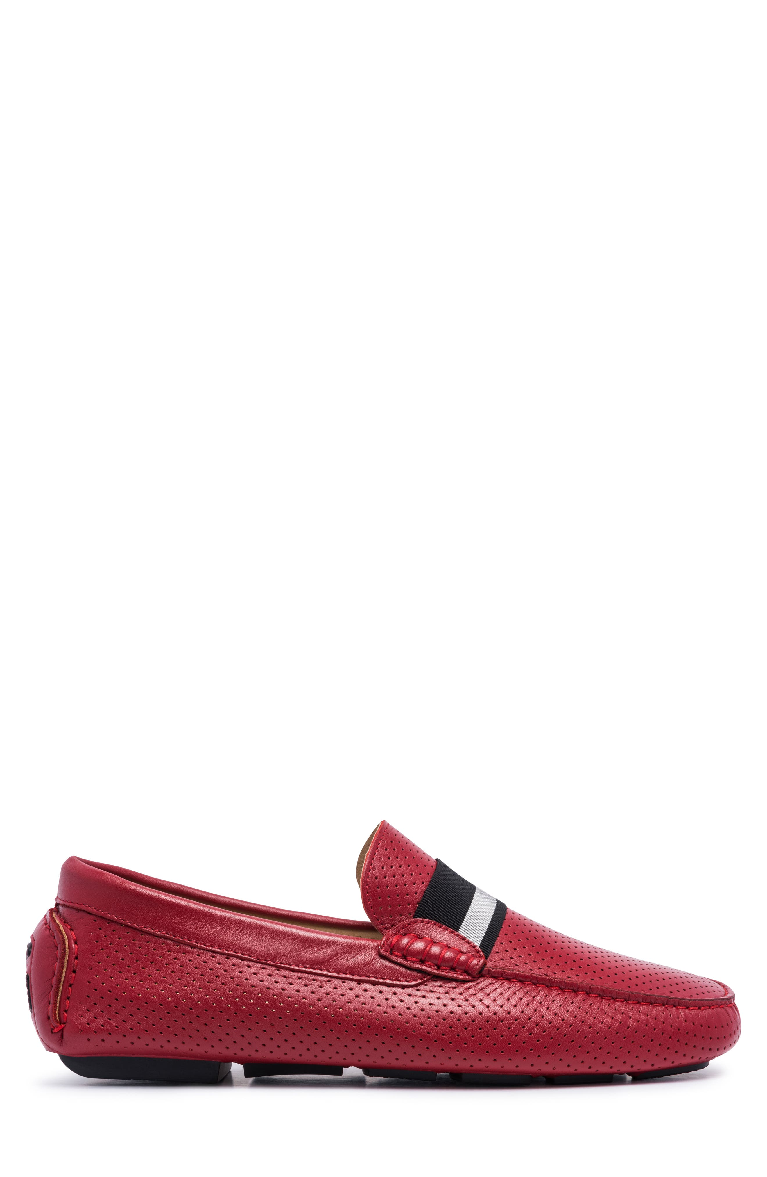 Sardegna Driving Shoe,                             Alternate thumbnail 3, color,                             RED LEATHER