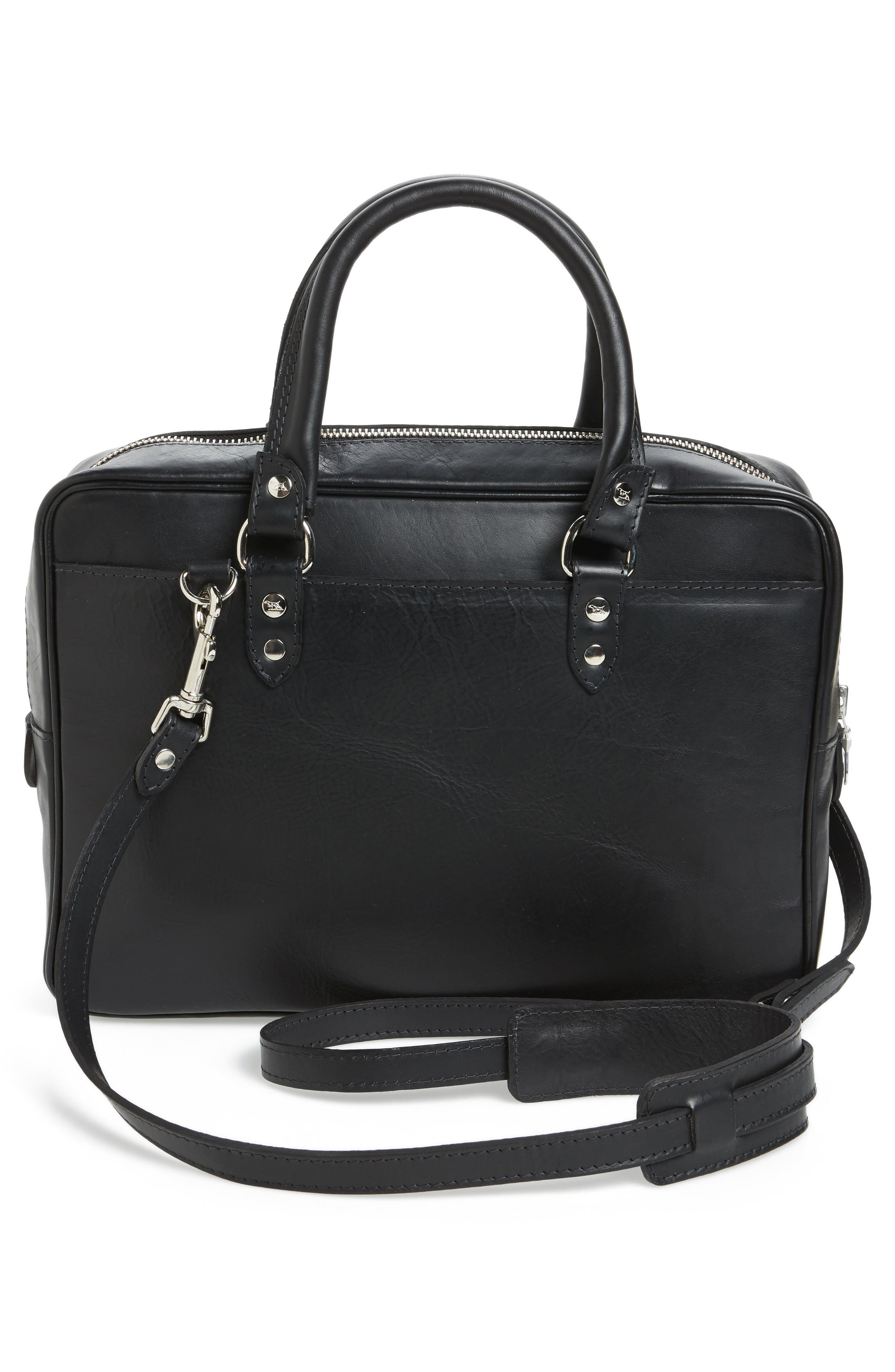 New Roxburgh Leather Briefcase,                             Alternate thumbnail 3, color,                             NERO