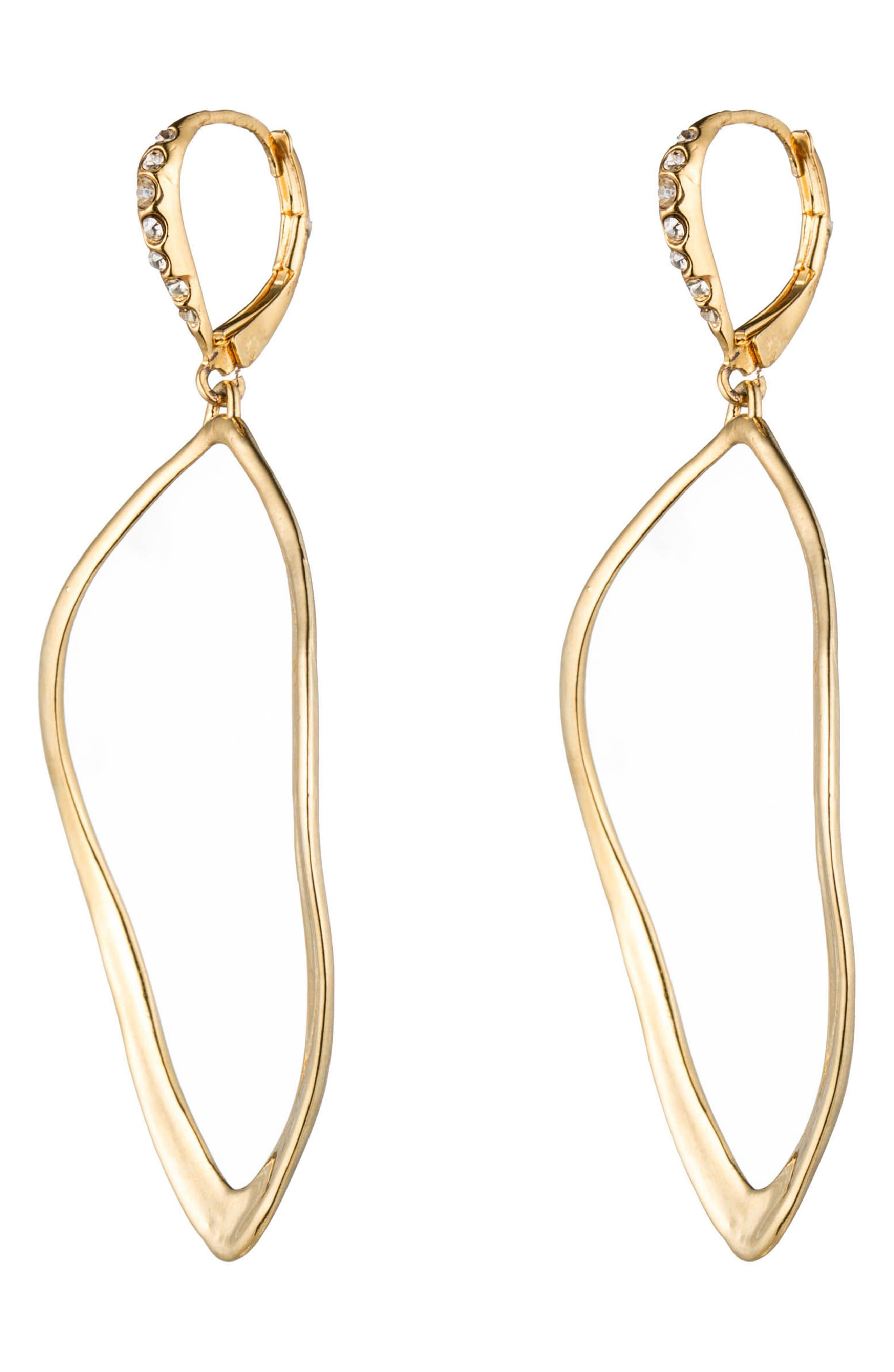 'Miss Havisham' Open Drop Earrings,                             Alternate thumbnail 2, color,                             GOLD