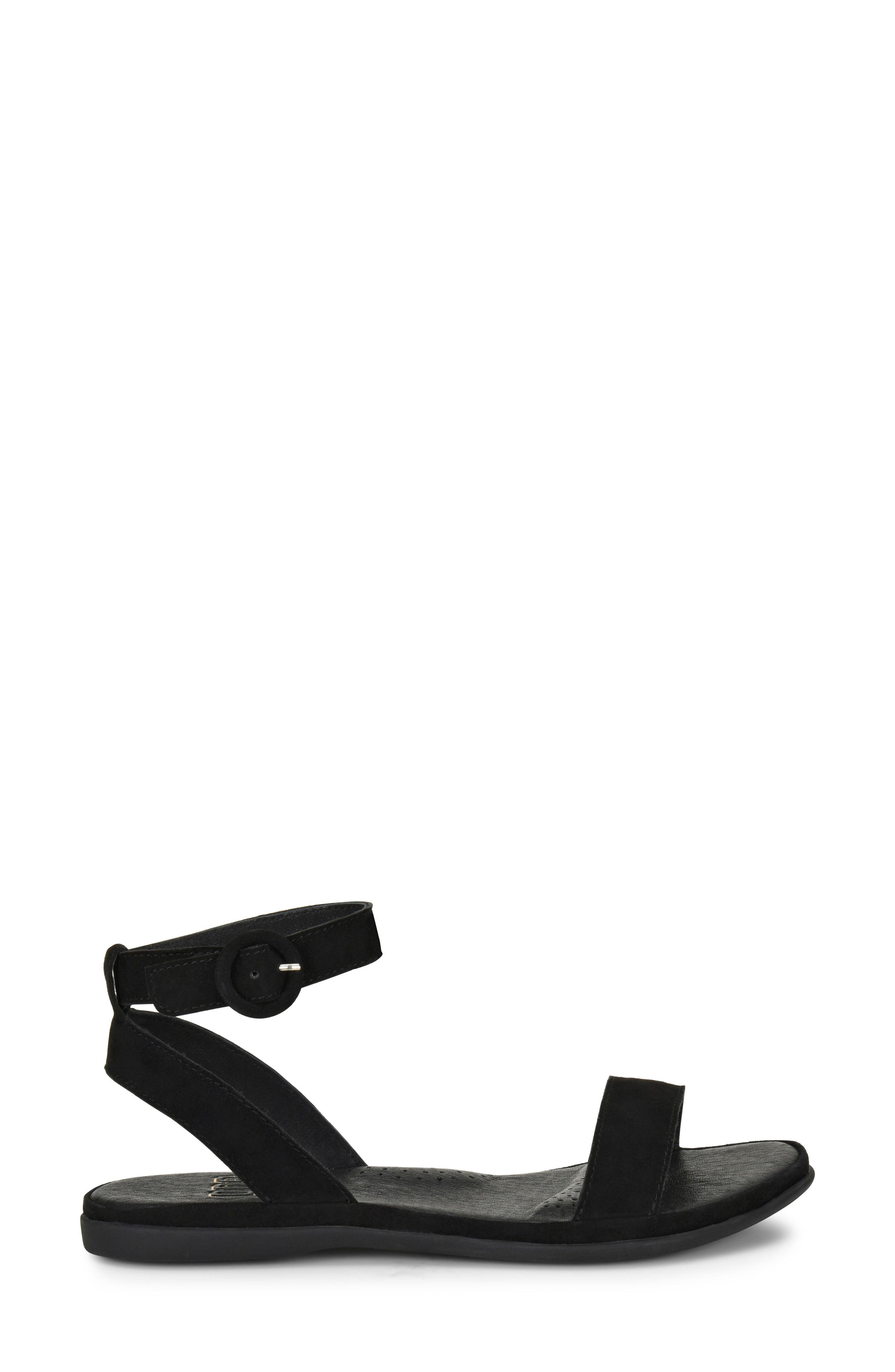 Stellan Sandal,                             Alternate thumbnail 3, color,                             BLACK SUEDE