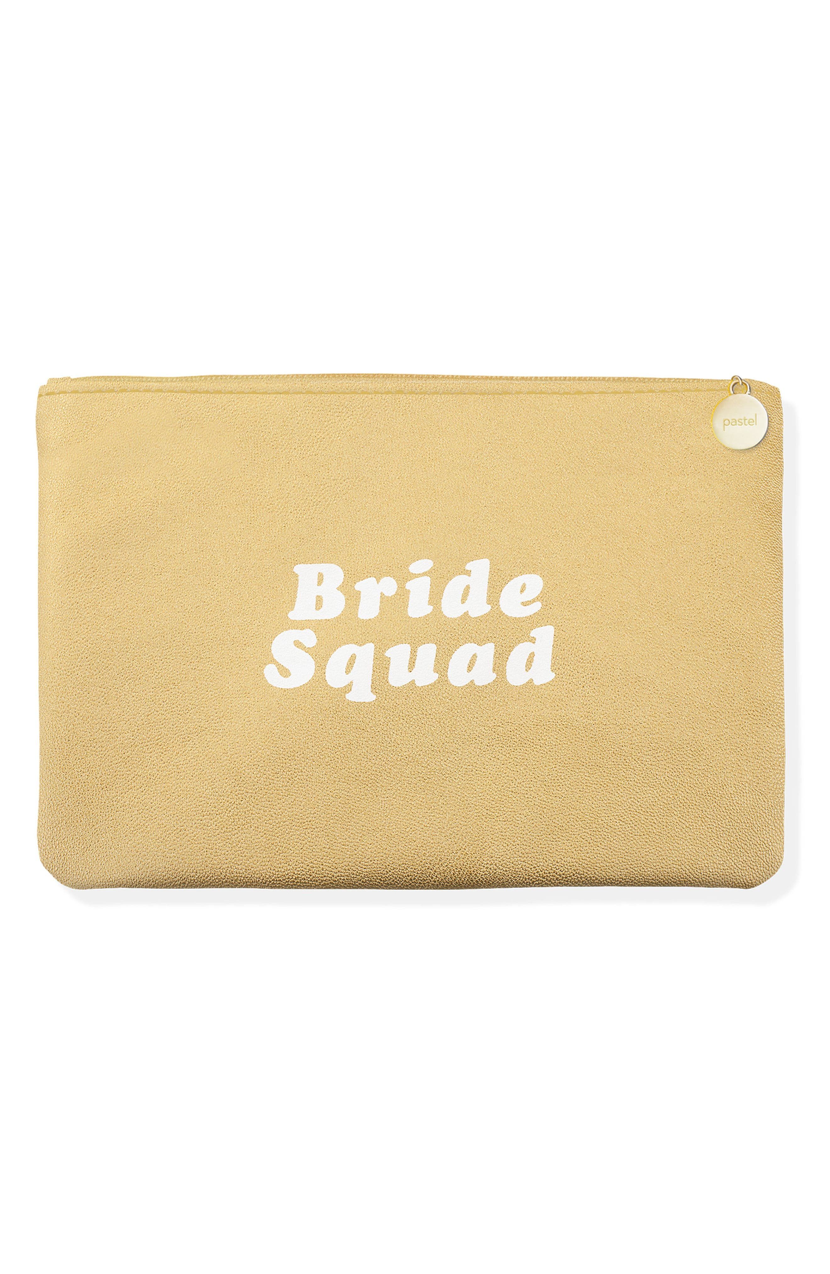 Bride Squad Zip Pouch,                             Main thumbnail 1, color,