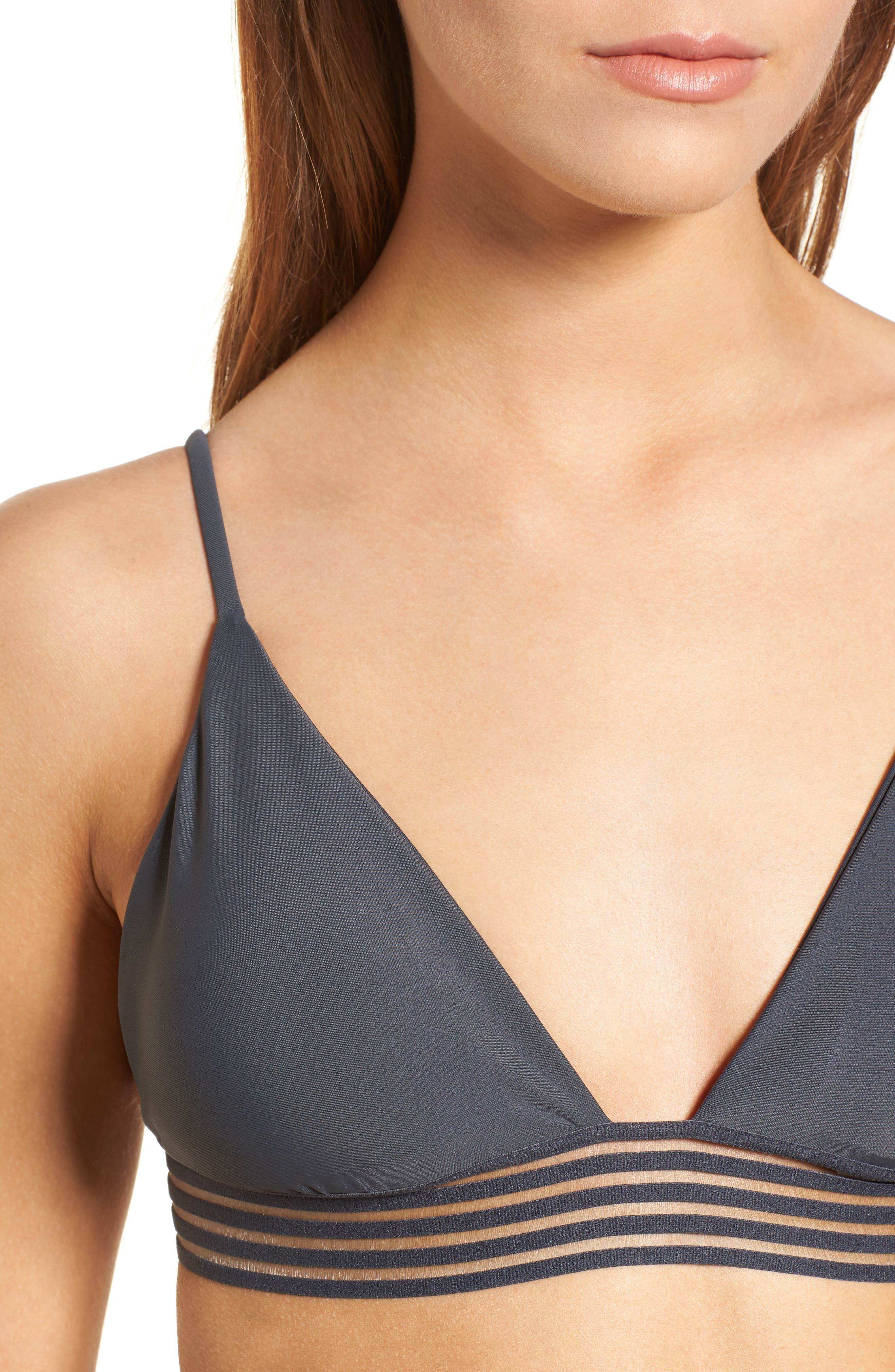 Illusion Fixed Triangle Bikini Top,                             Alternate thumbnail 4, color,                             036