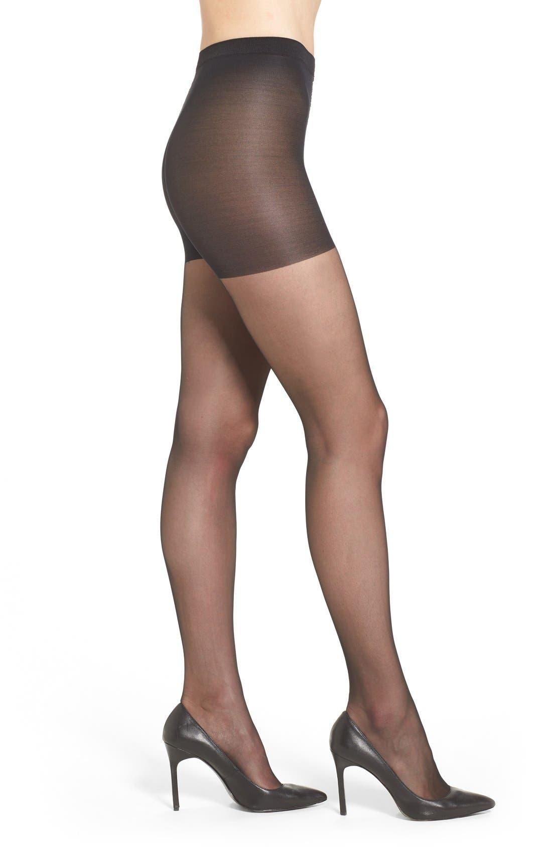 WOLFORD Individual 10 Control Top Pantyhose, Main, color, BLACK