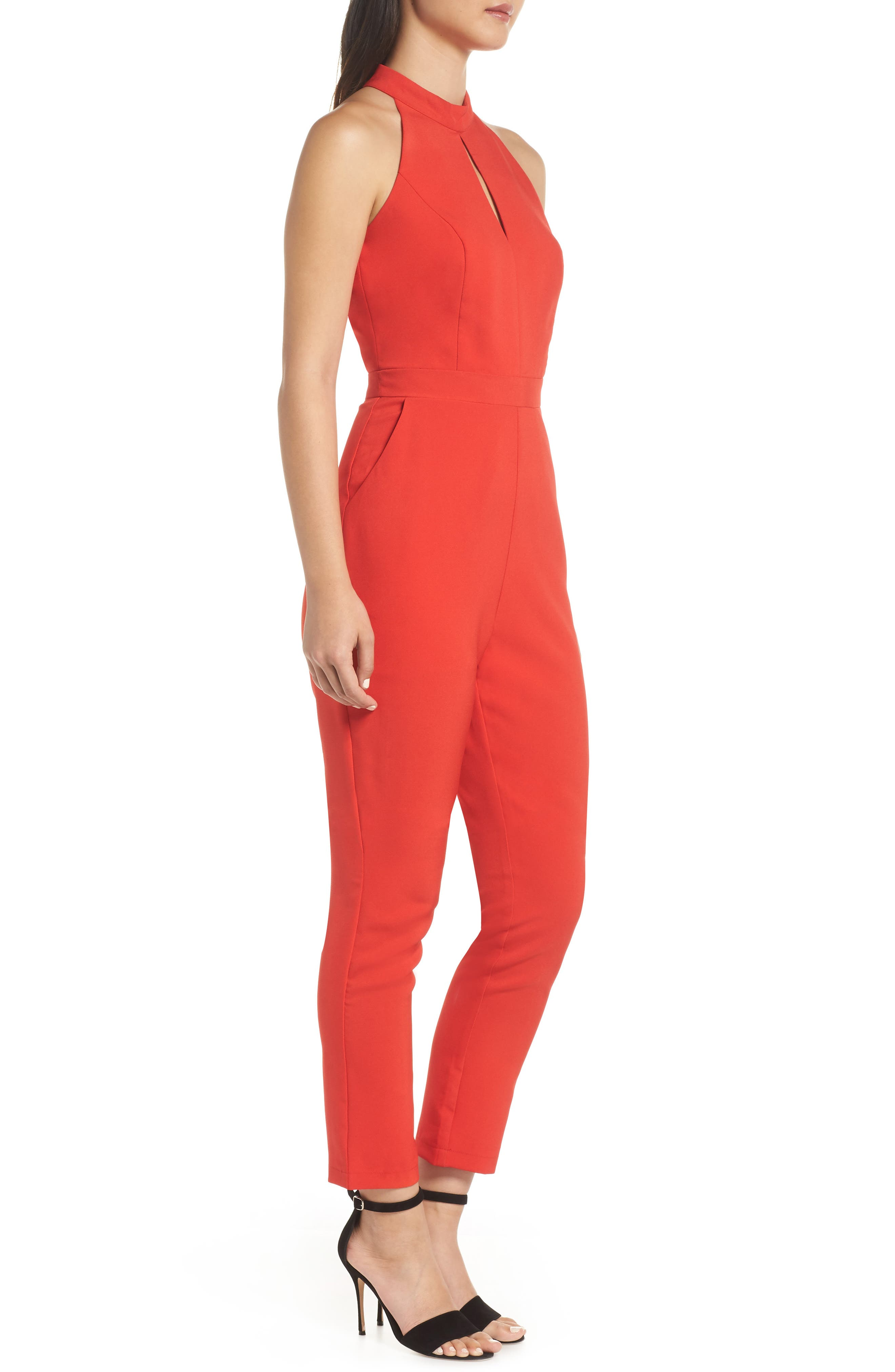 ADELYN RAE,                             Shaylie Scalloped Back Jumpsuit,                             Alternate thumbnail 3, color,                             600