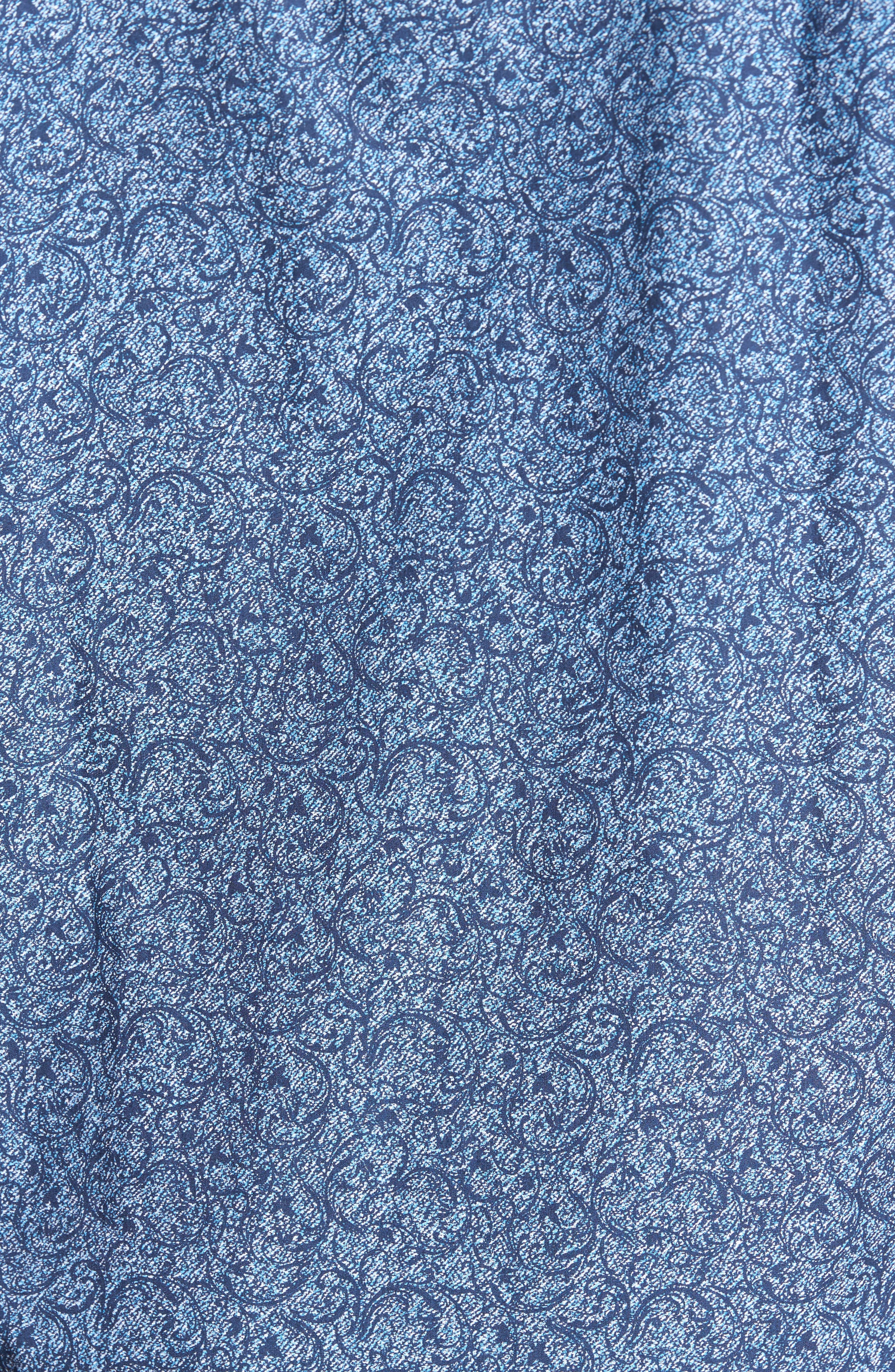 Classic Fit Scroll Print Sport Shirt,                             Alternate thumbnail 5, color,                             411