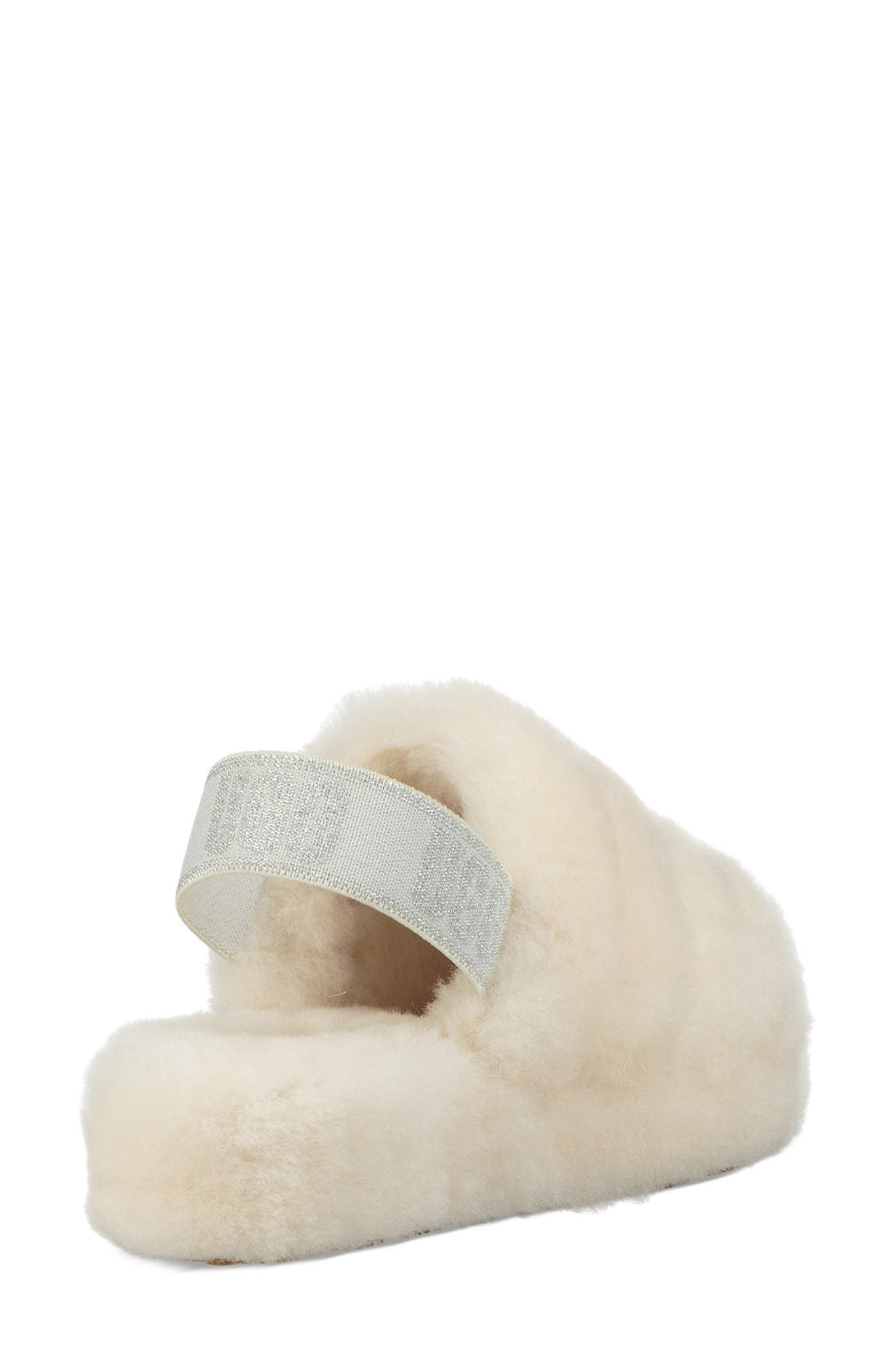 Fluff Yeah Genuine Shearling Slipper,                             Alternate thumbnail 2, color,                             CREAM