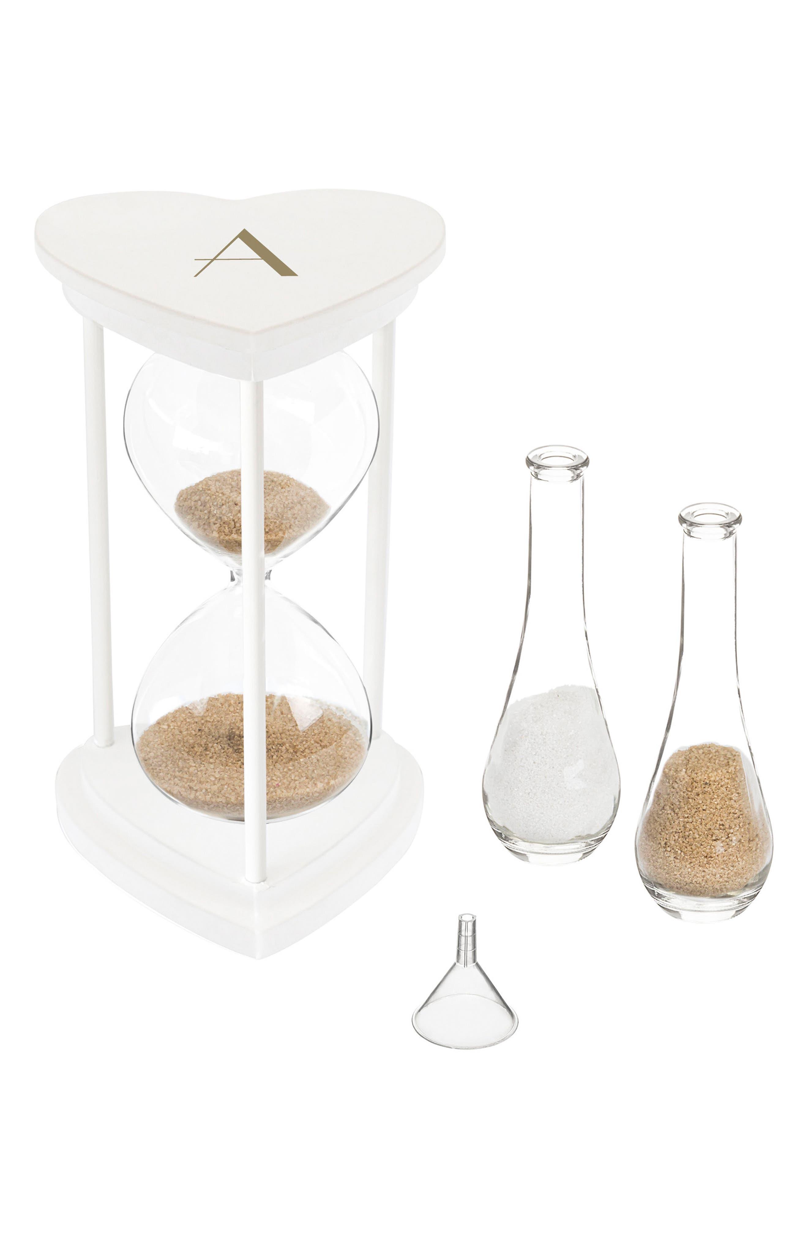 Monogram Unity Sand Ceremony Hourglass Set,                         Main,                         color,