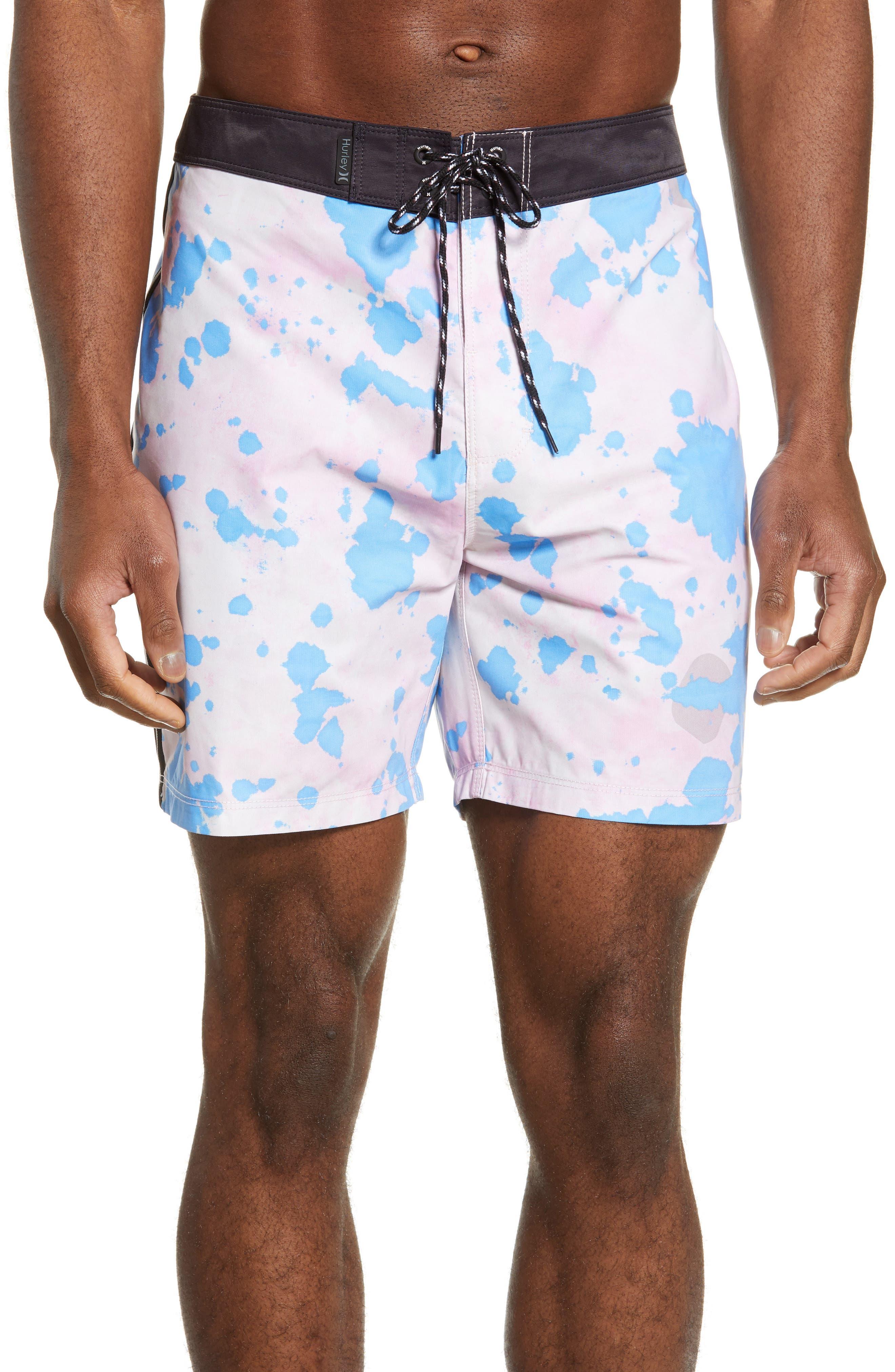 Hurley Phantom Bleach Daze Board Shorts, Pink