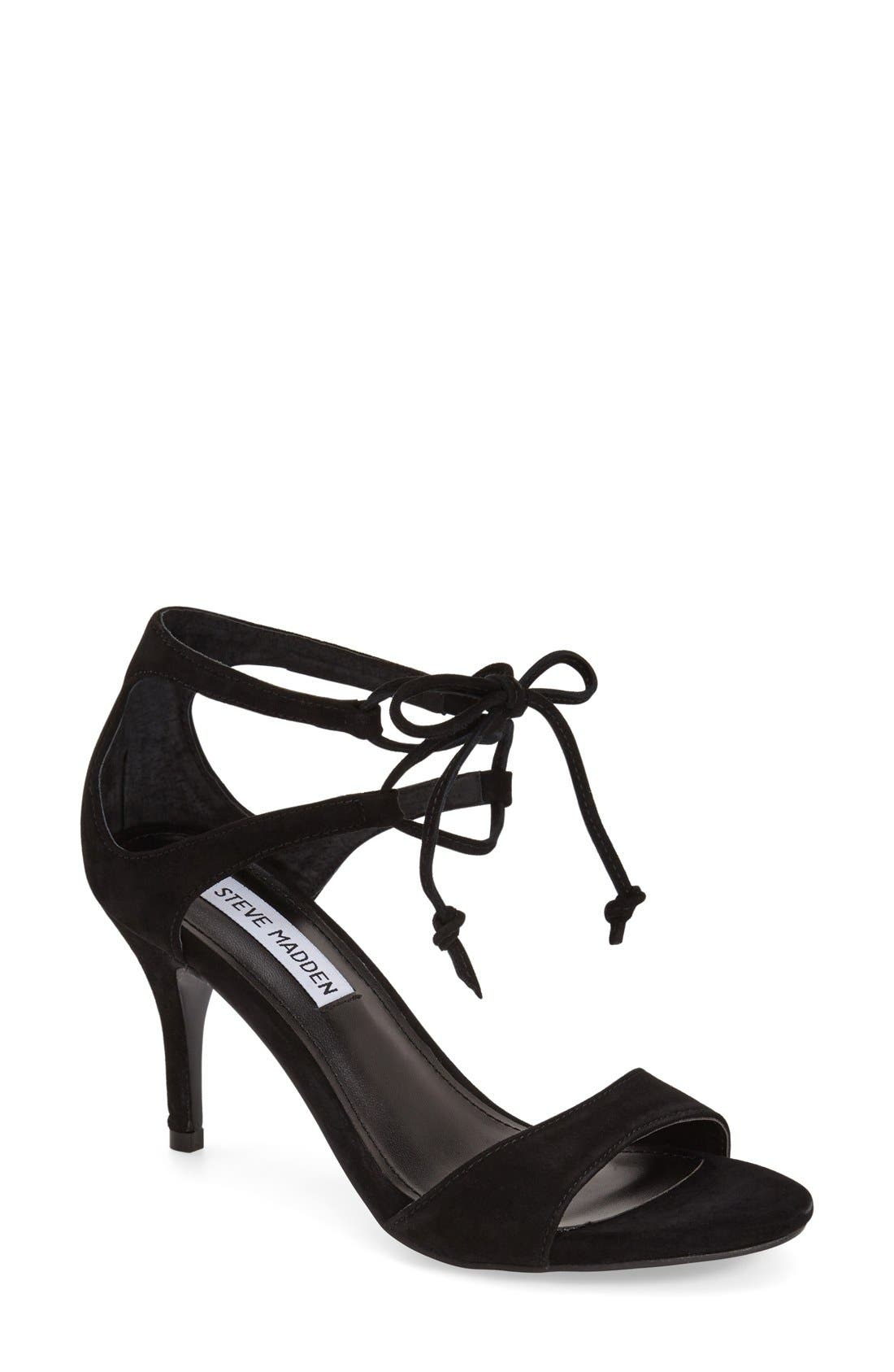 'Salsaa' Lace-Up Ankle Strap Sandal,                         Main,                         color,