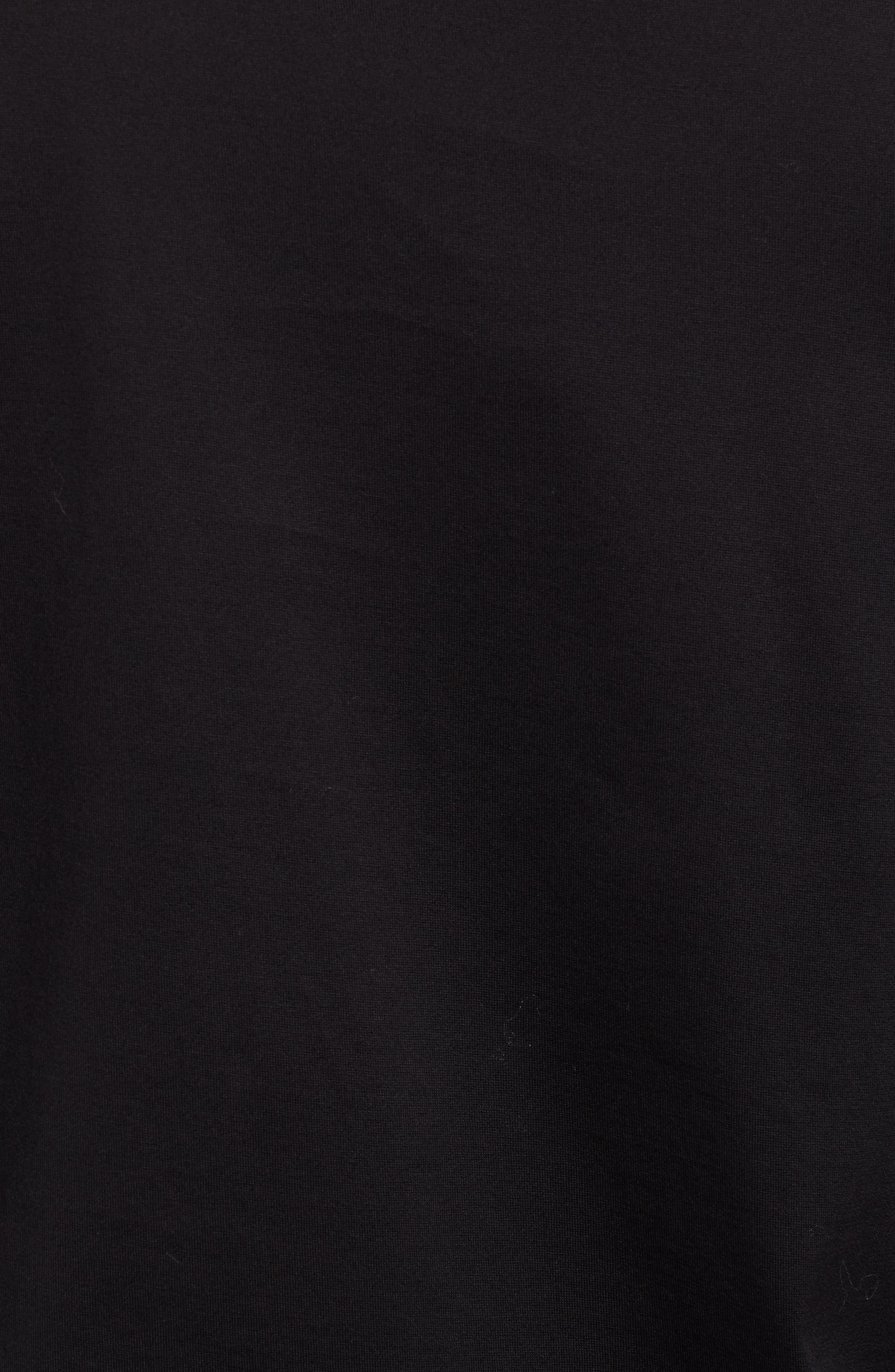 Dalendar Mercerized Cotton Slim Fit Polo Shirt,                             Alternate thumbnail 5, color,                             BLACK