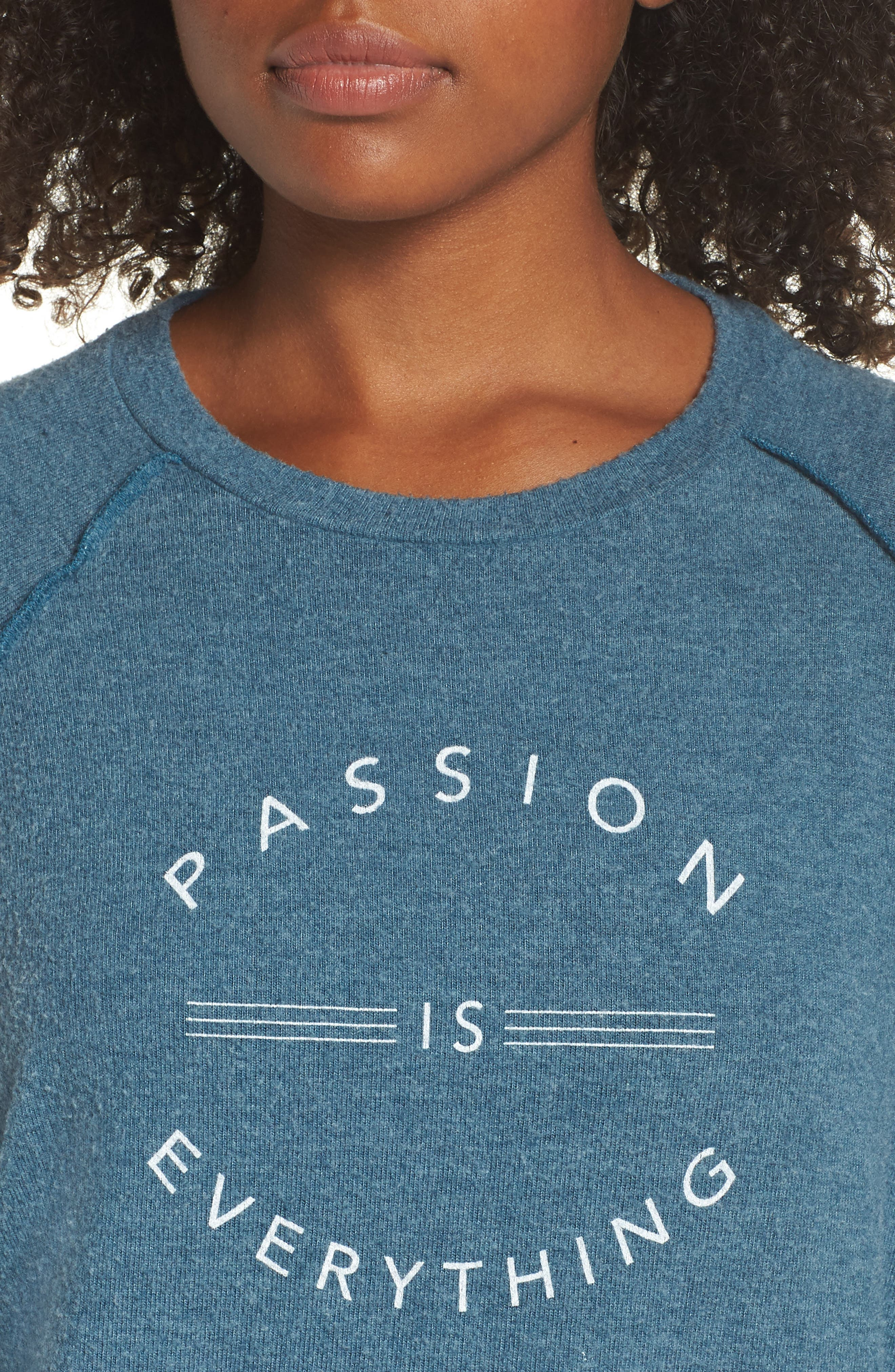 Passion Is Everything Sweatshirt,                             Alternate thumbnail 4, color,                             OCEAN