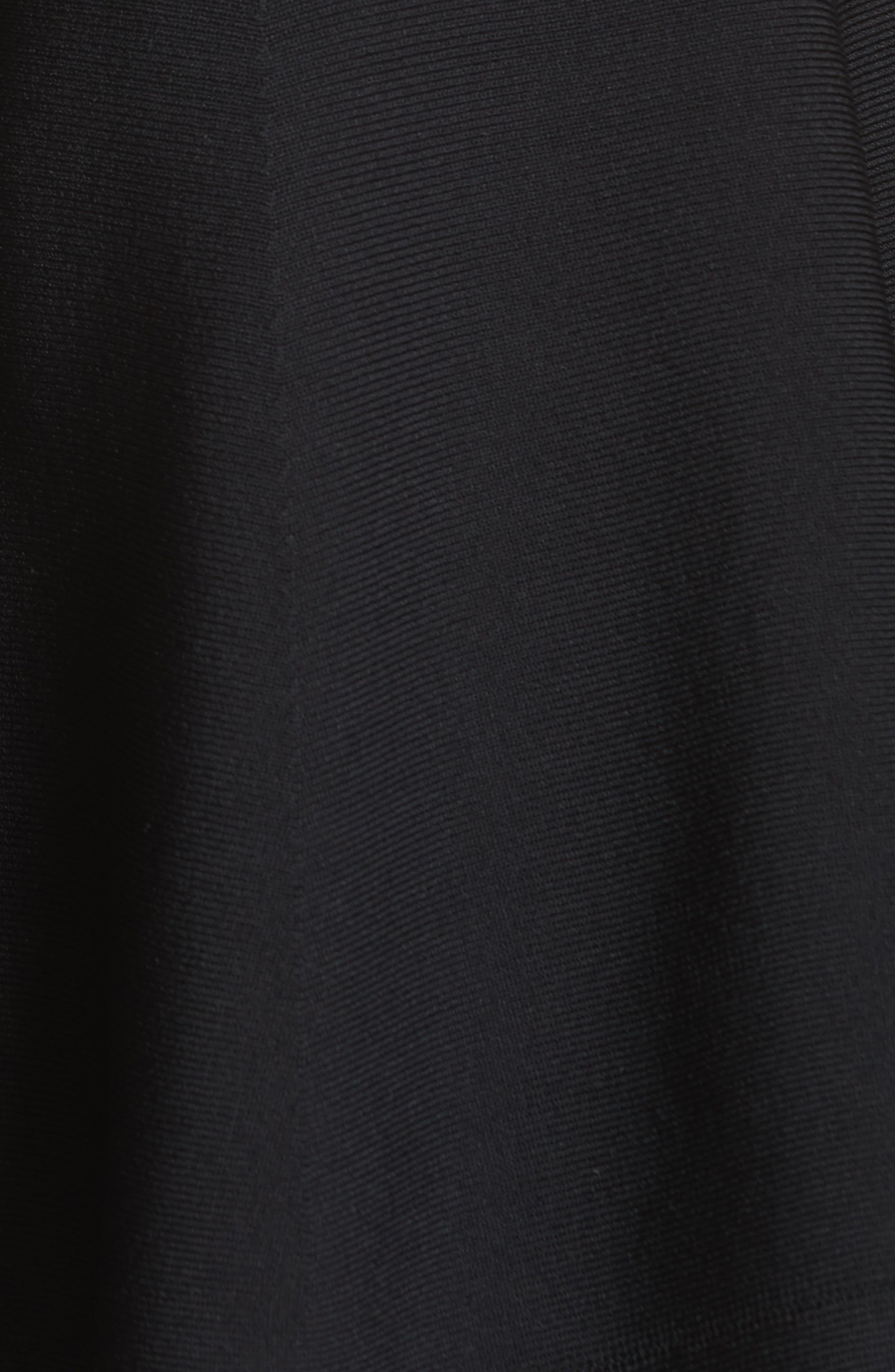 June Cutout Hem Skirt,                             Alternate thumbnail 5, color,                             001
