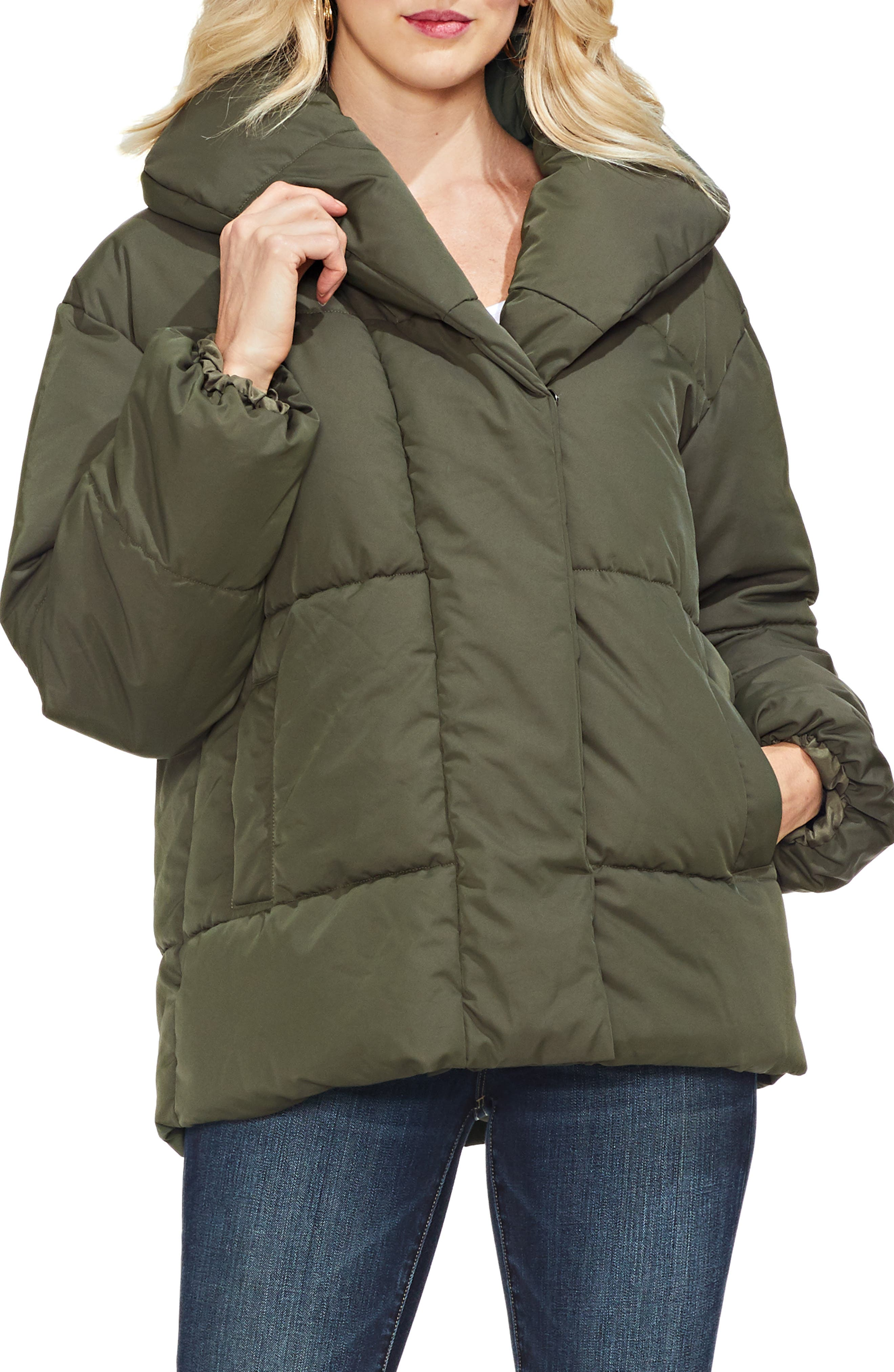 Matte Quilted Puffer Jacket,                             Main thumbnail 1, color,                             360