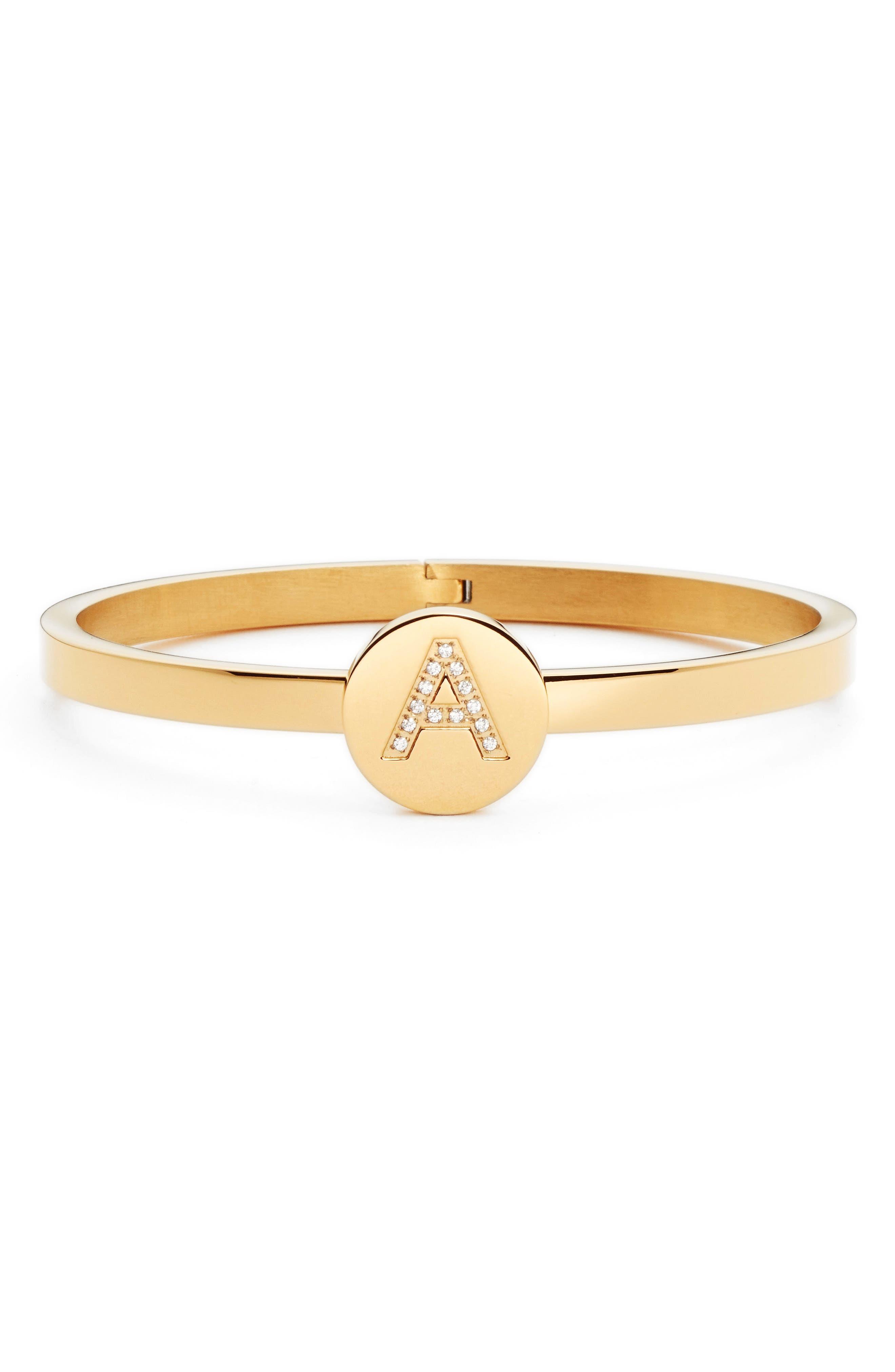 Initial Bangle Bracelet,                         Main,                         color,